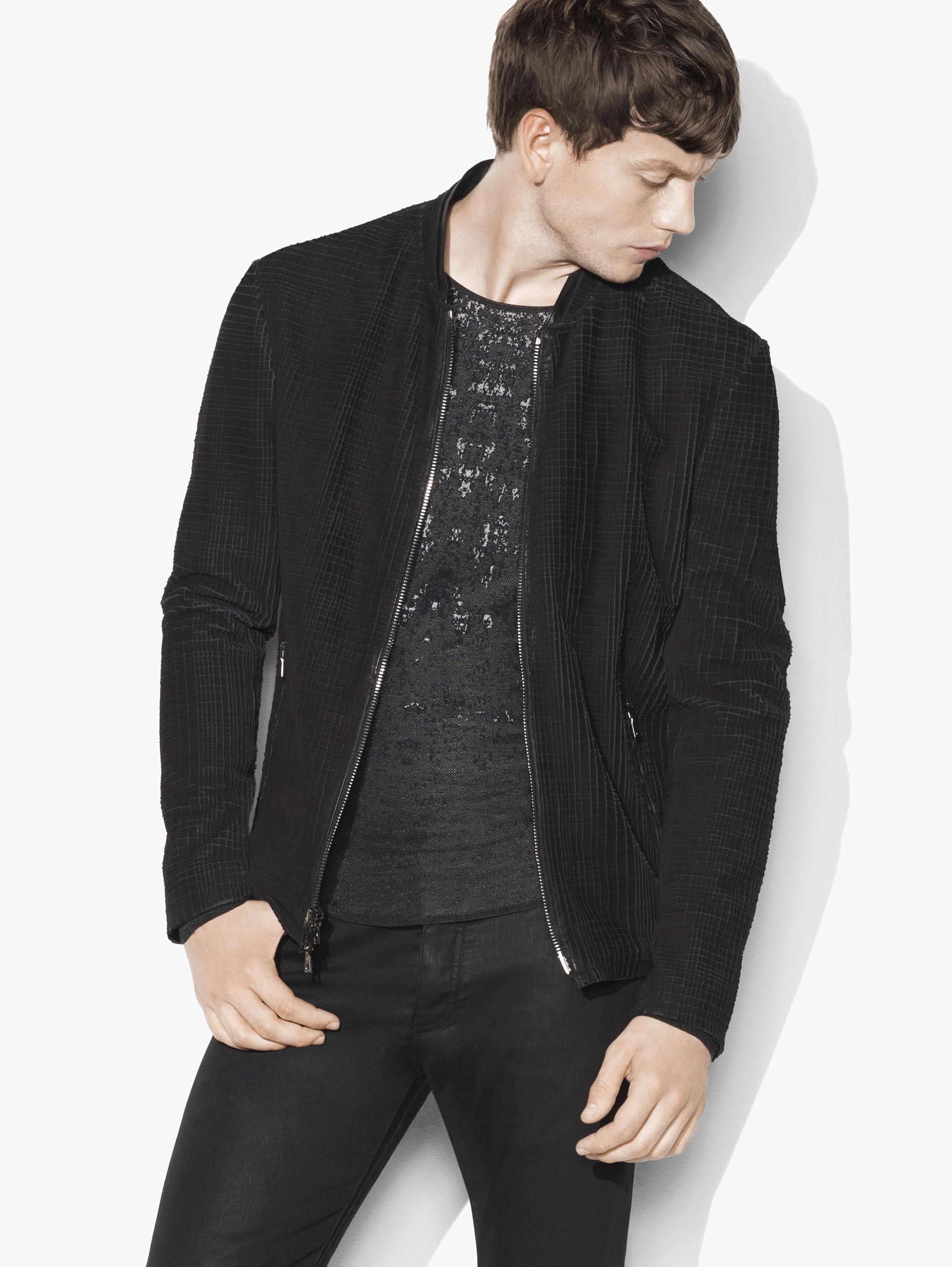 Laser-Cut Calf Skin Jacket