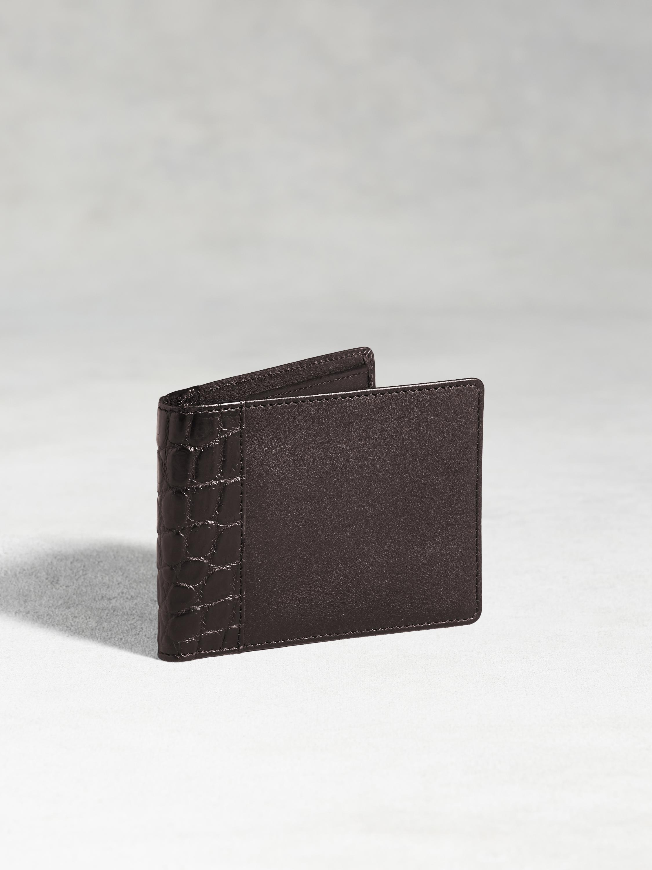 Genuine Crocodile Slimfold Wallet