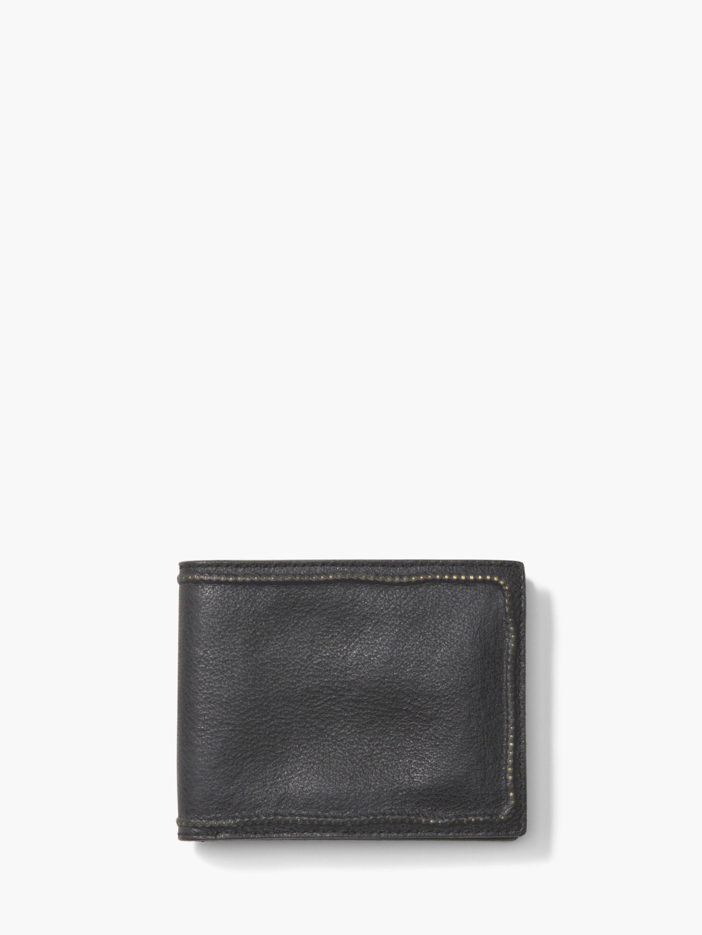 Studded Edge Slim Fold Wallet