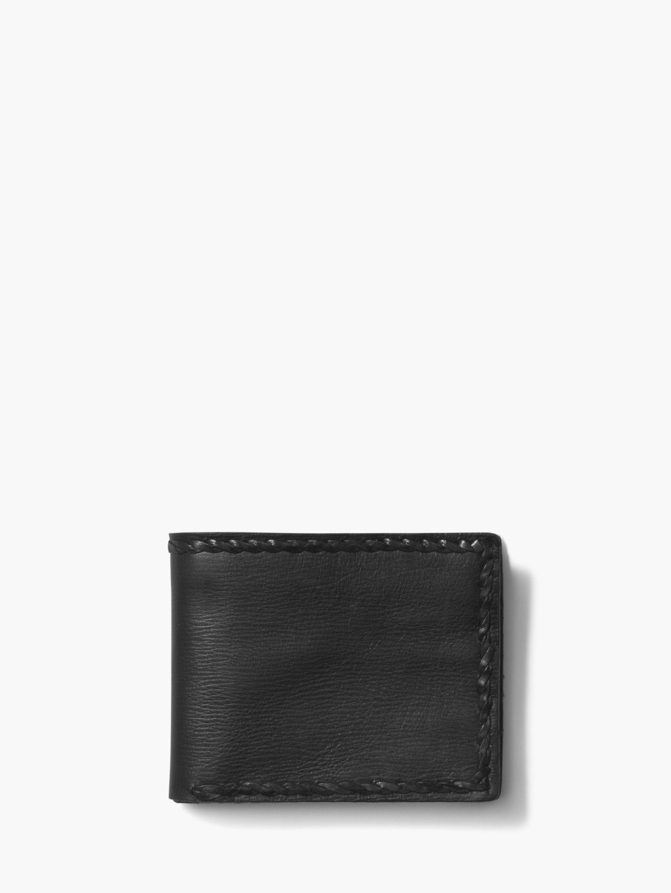 Braided Edge Slim Fold Wallet