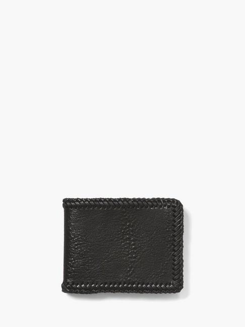John Varvatos Braided Slim Fold Wallet