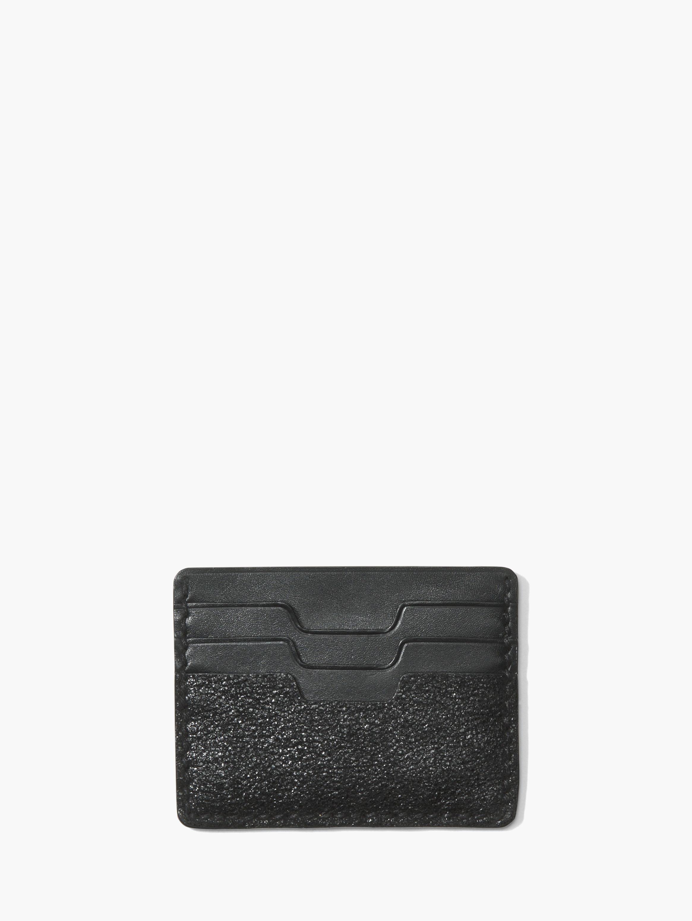 John Varvatos Metallic Leather Card Case