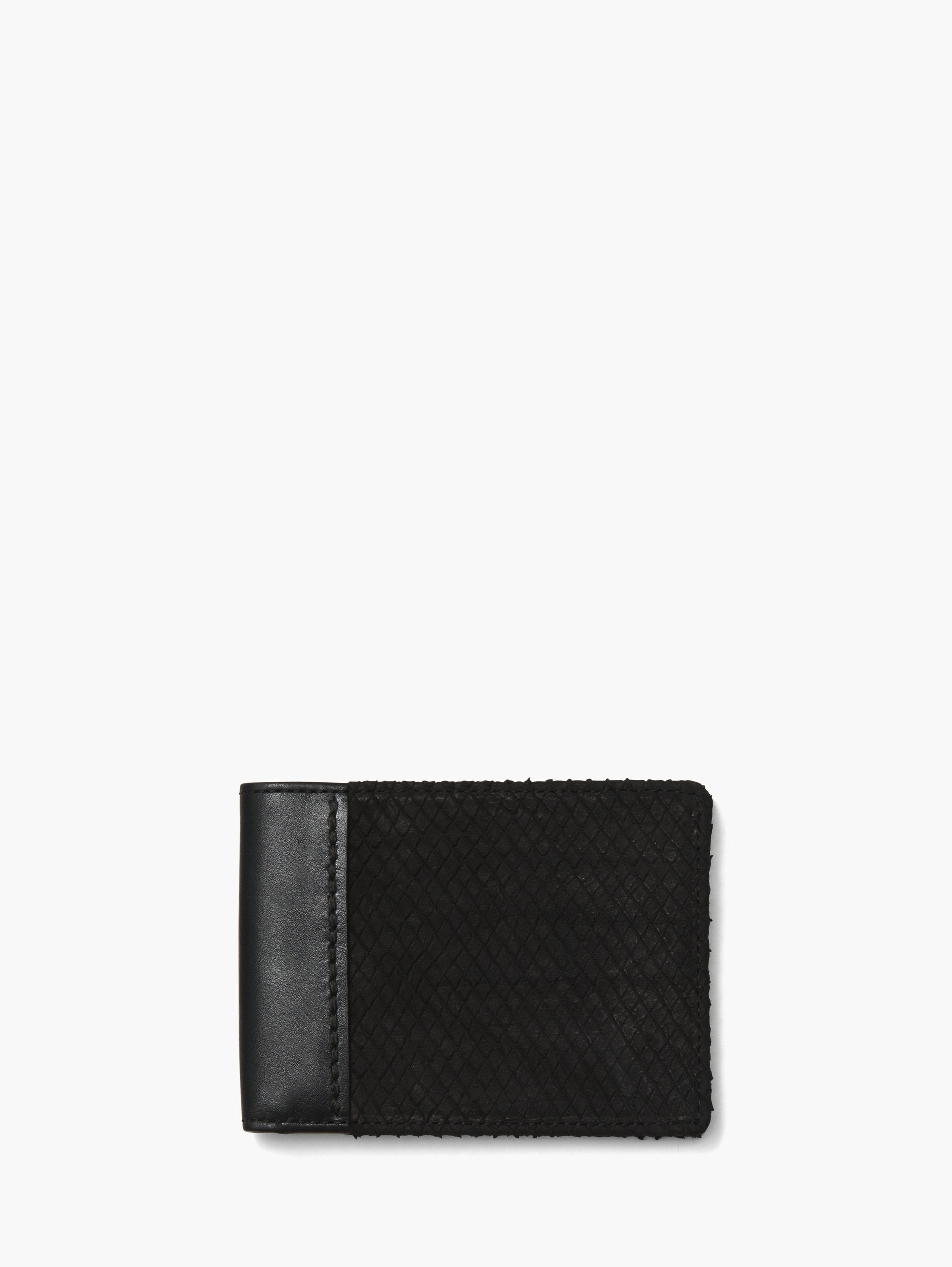 Textured Leather Bifold Wallet