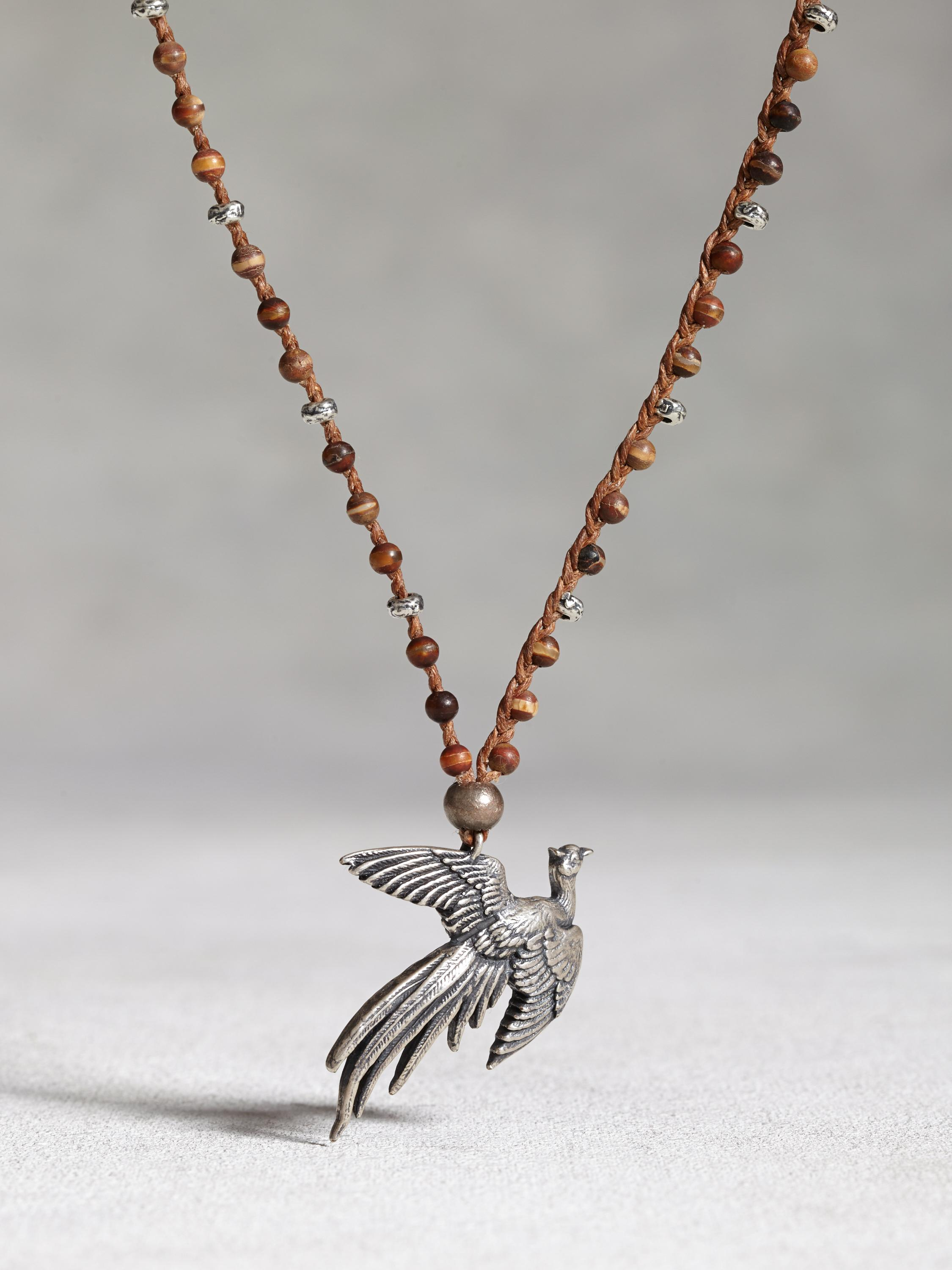 Silver Pheasant Necklace