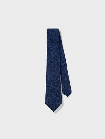 Wide Silk Graphic Tie