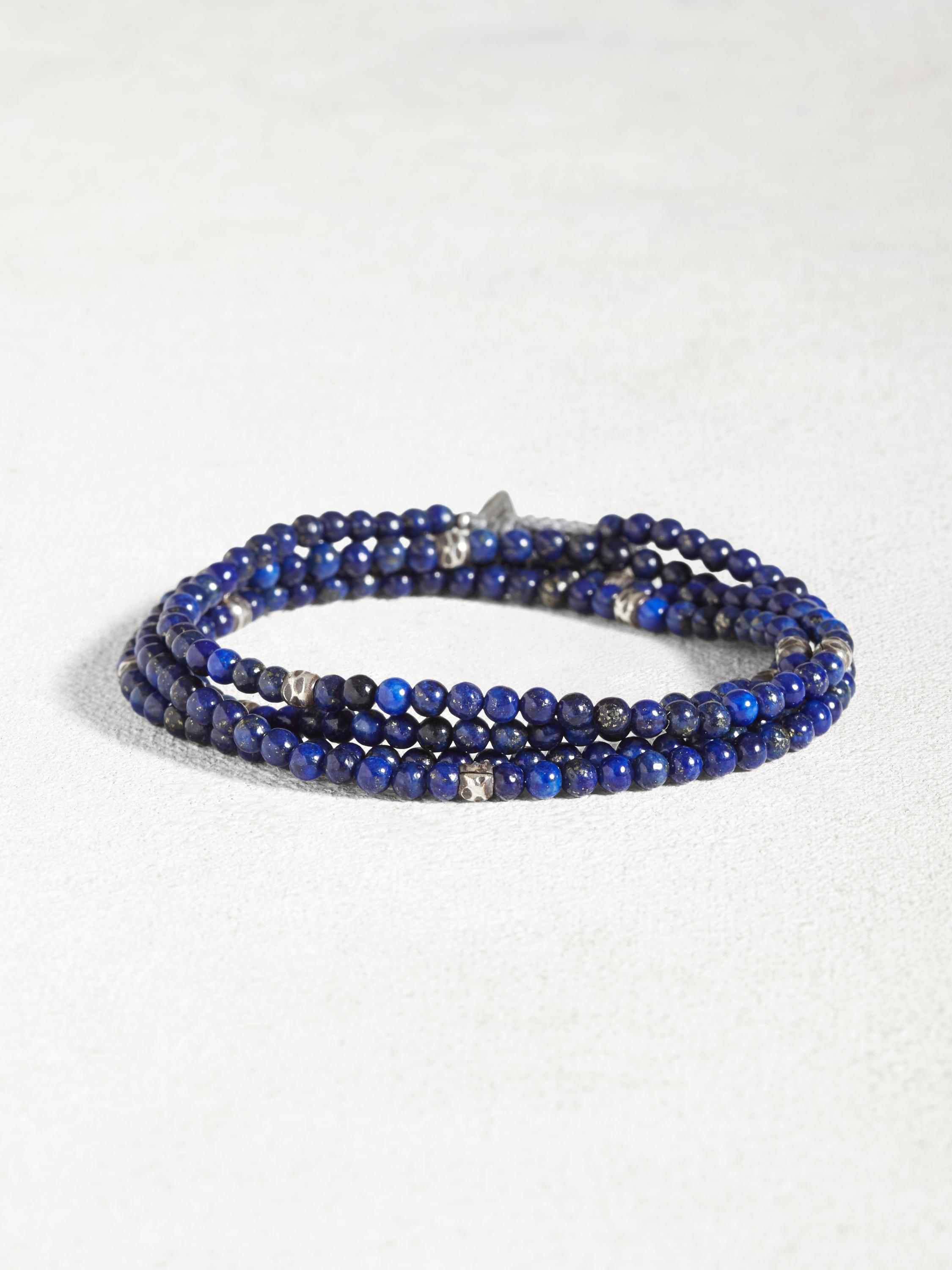 Lapis & Sterling Multi-Wrap Bracelet