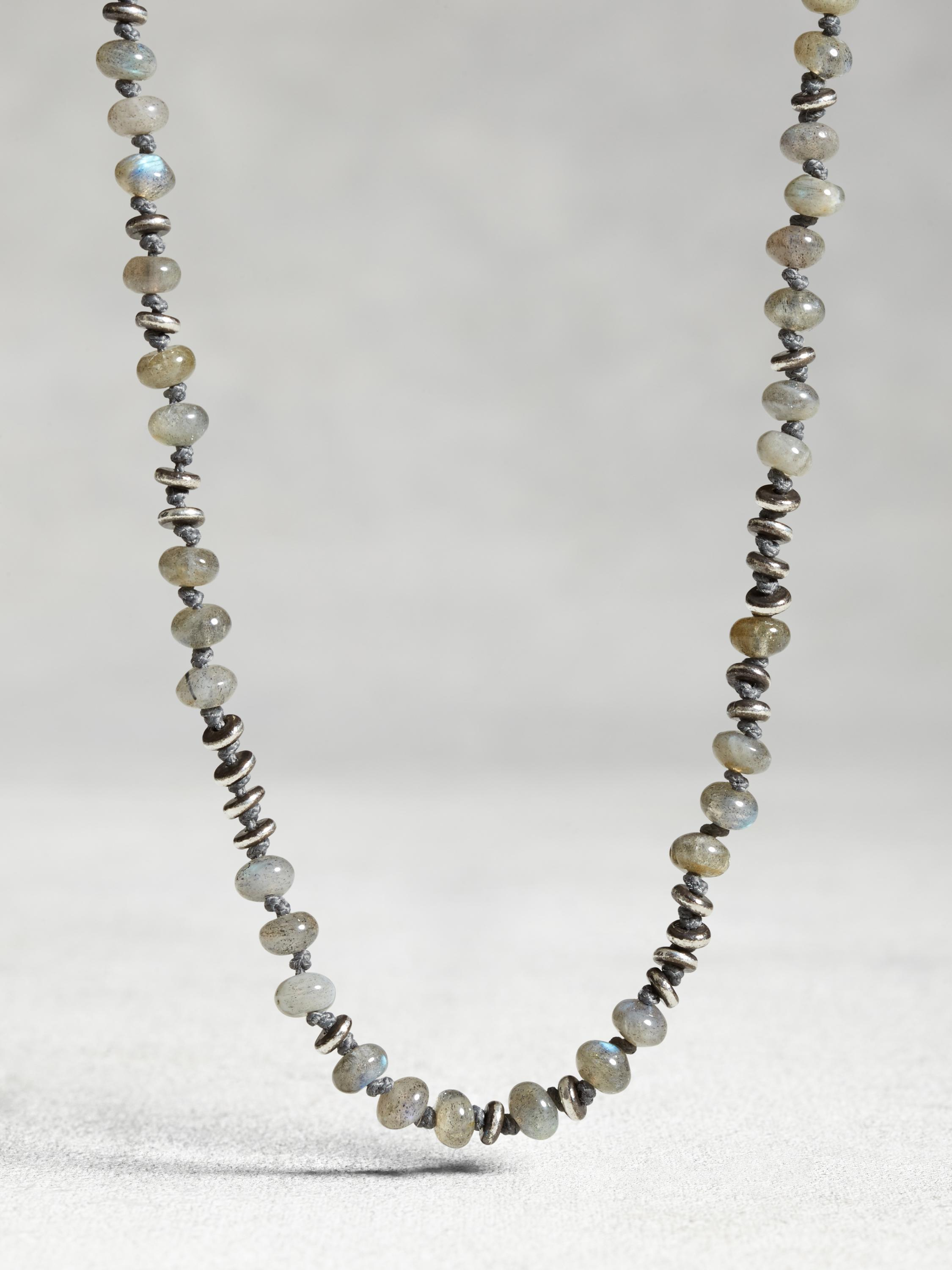 Labradorite Knot Necklace