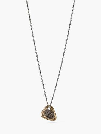 BRASS GUITAR PICK NECKLACE
