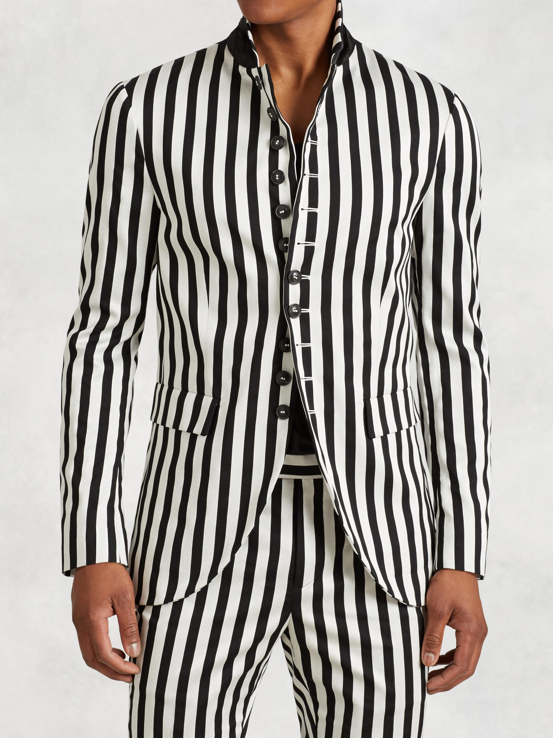 Striped Multi-Button Jacket