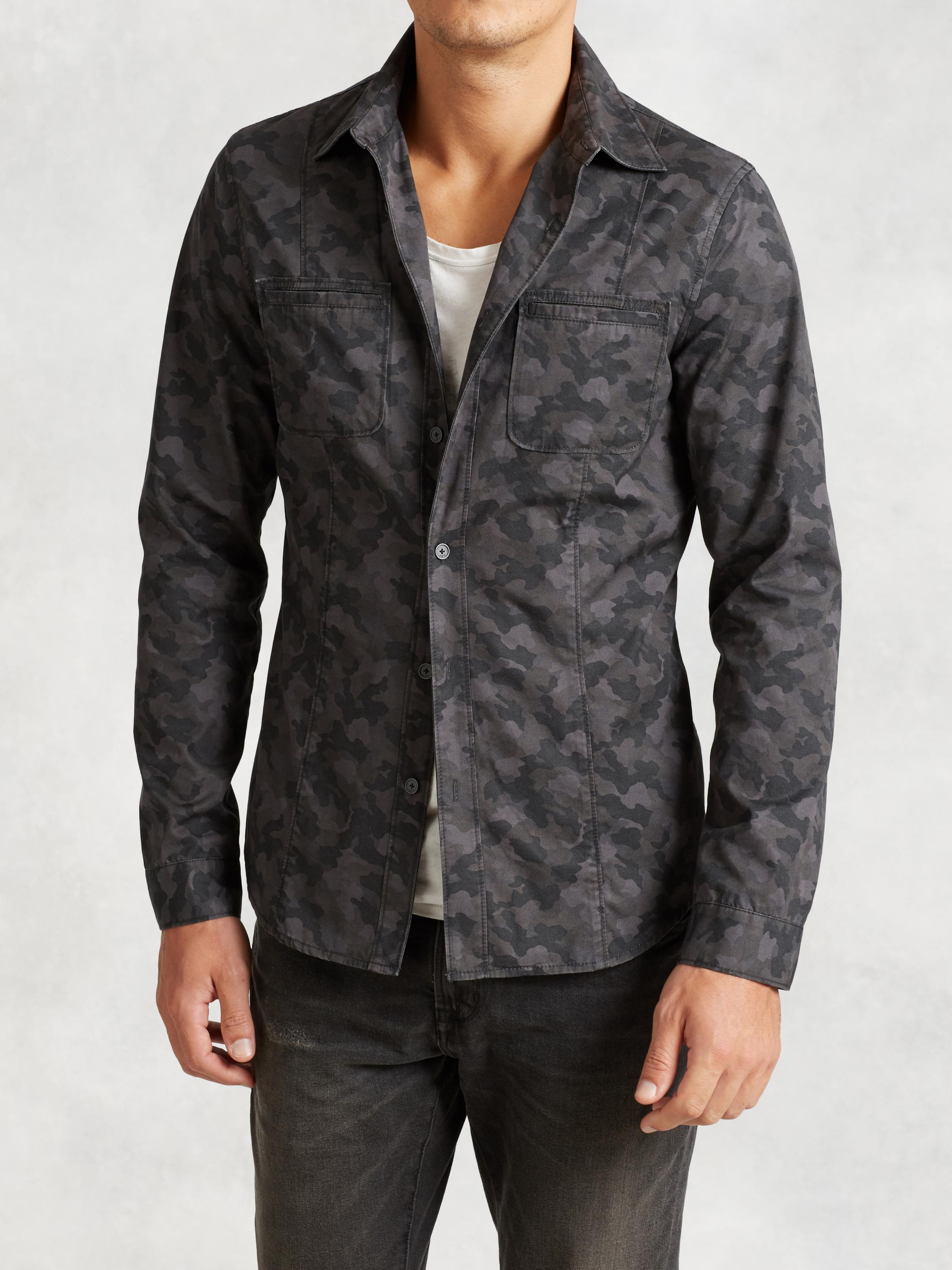 Cotton Camo Shirt Jacket