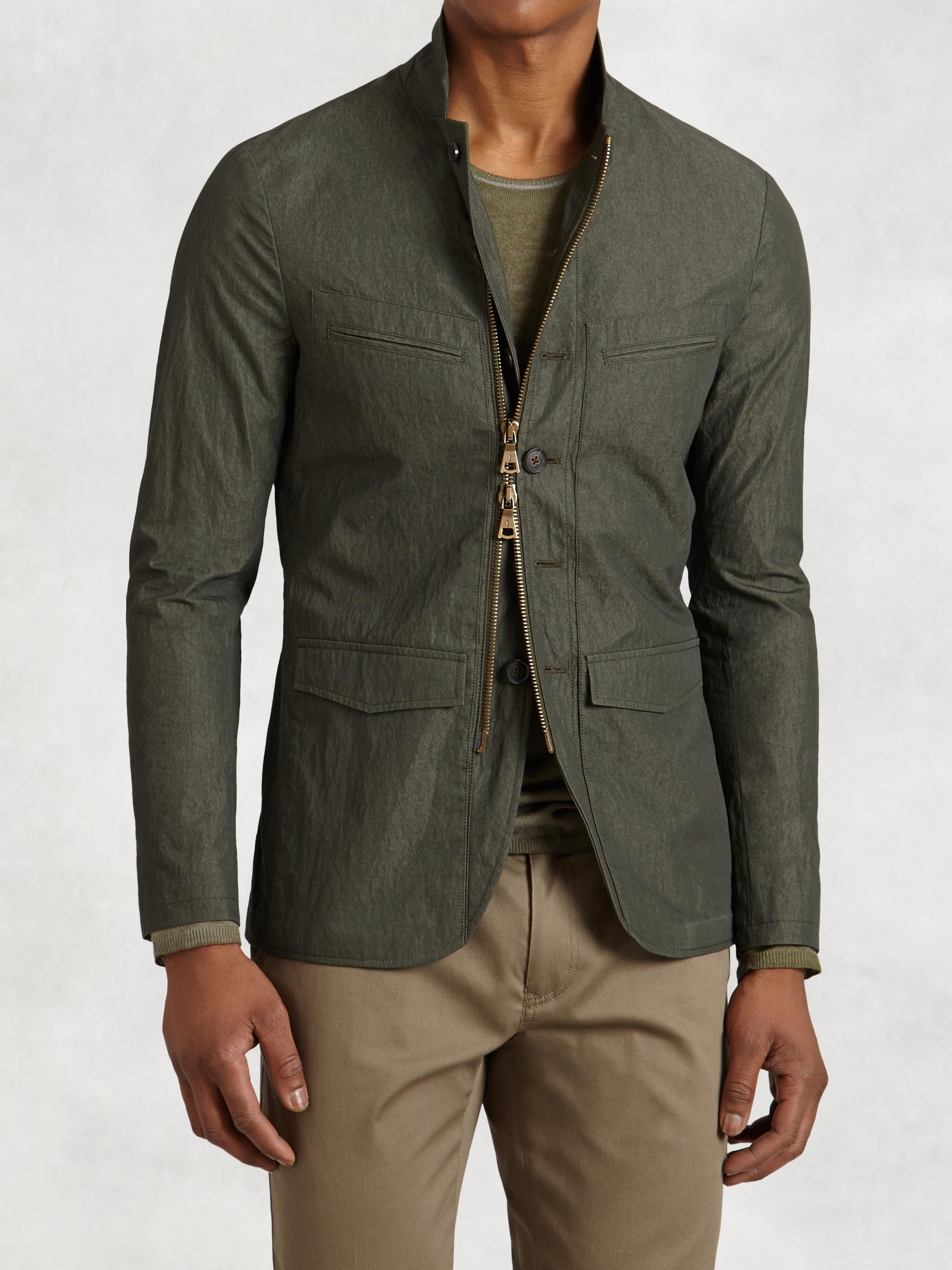 Cotton-Blend 4-Pocket Jacket