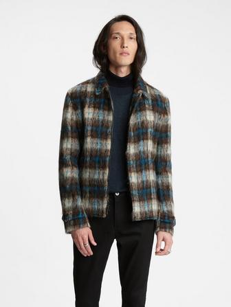 Alpaca Plaid Jacquard Jacket