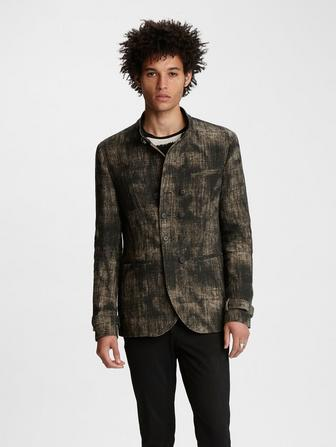 Stand Collar Double-Breasted Jacket