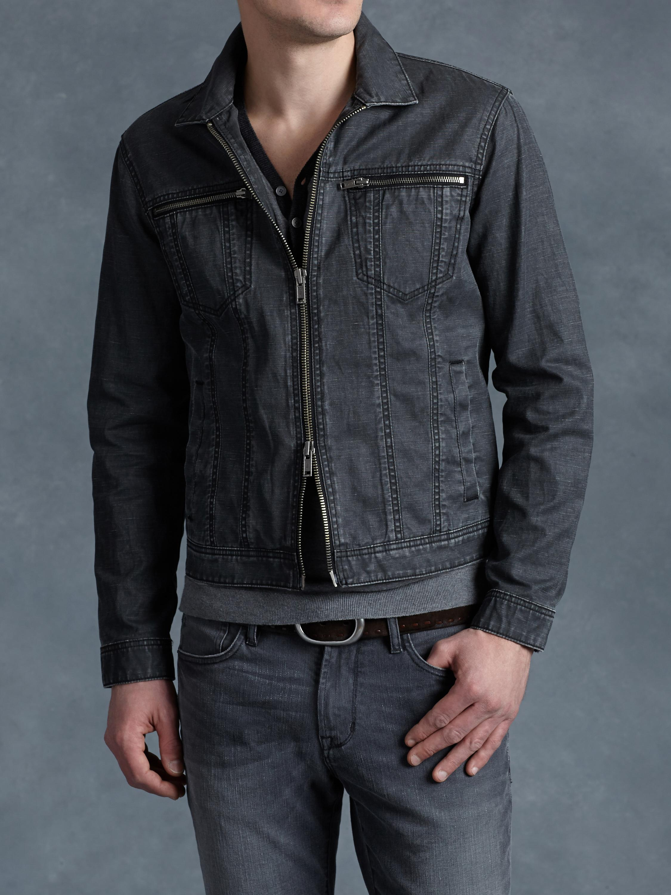 Coated Denim Jacket