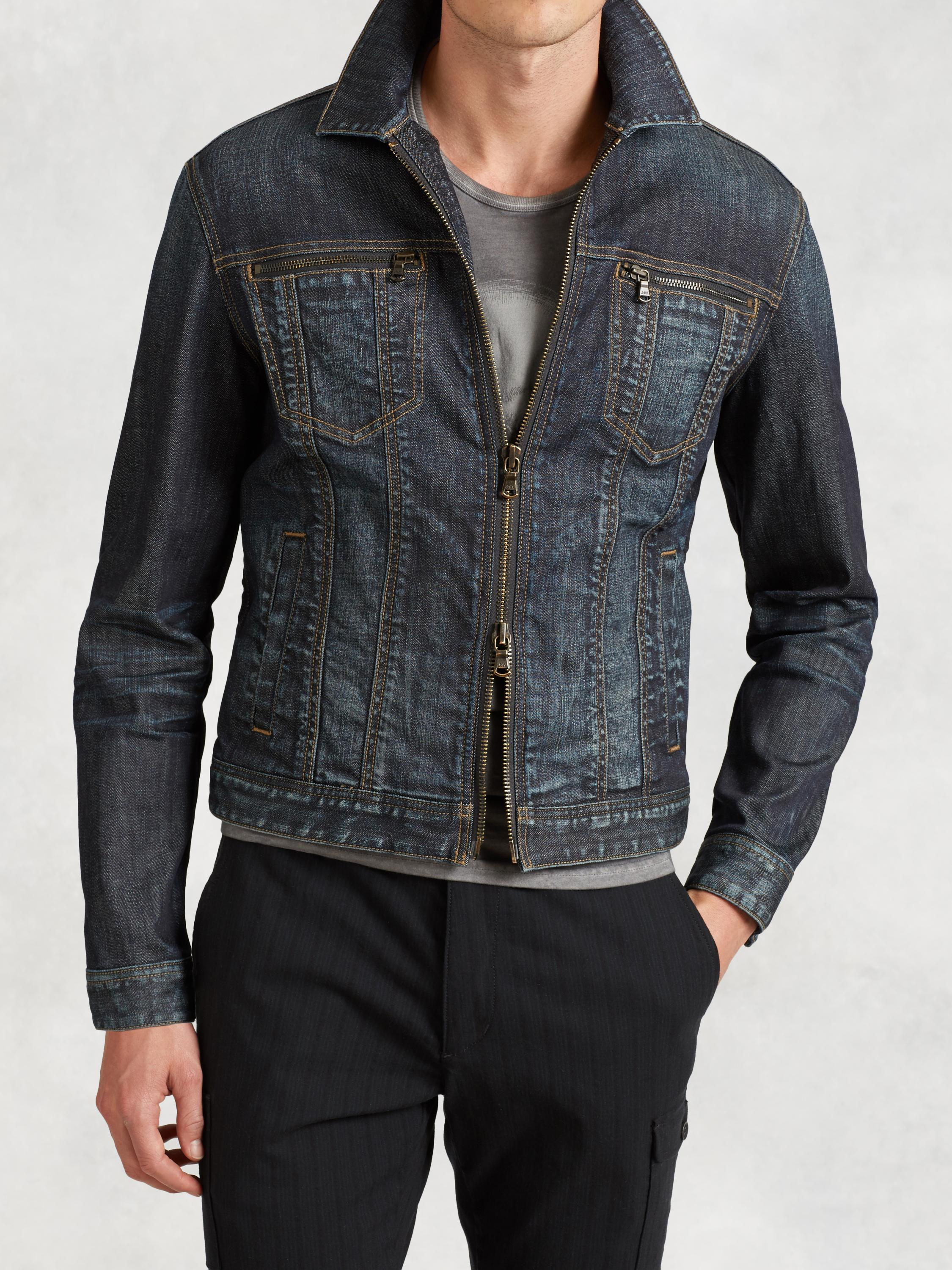 Denim Zip Detail Jacket