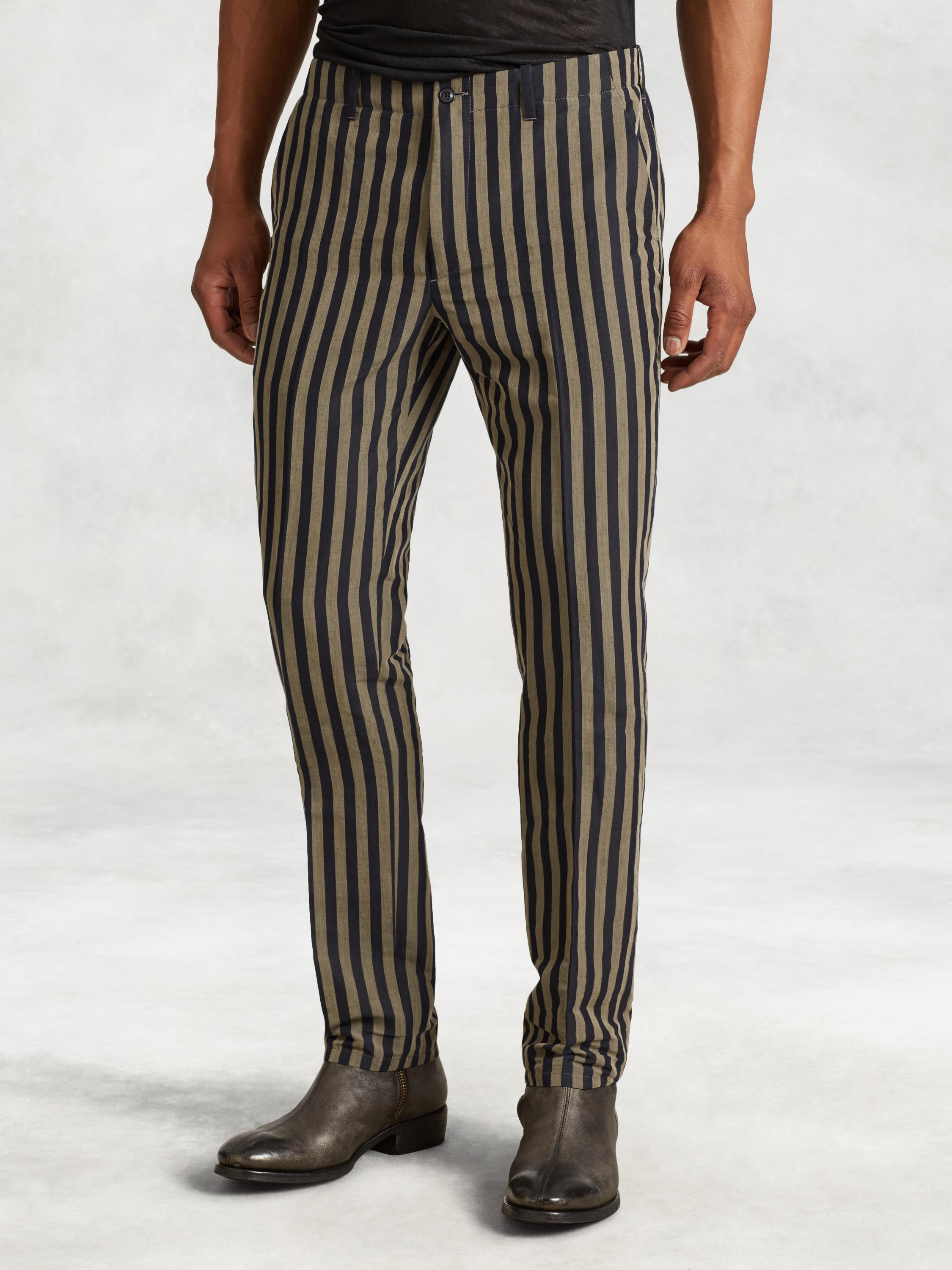 Cotton Blend Vintage Stripe Pant