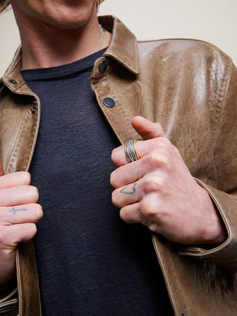ARTISANAL BRASS & SILVER RING