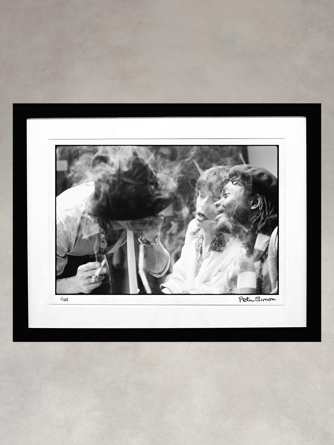 Keith Richards, Mick Jagger & Peter Tosh by Peter Simon
