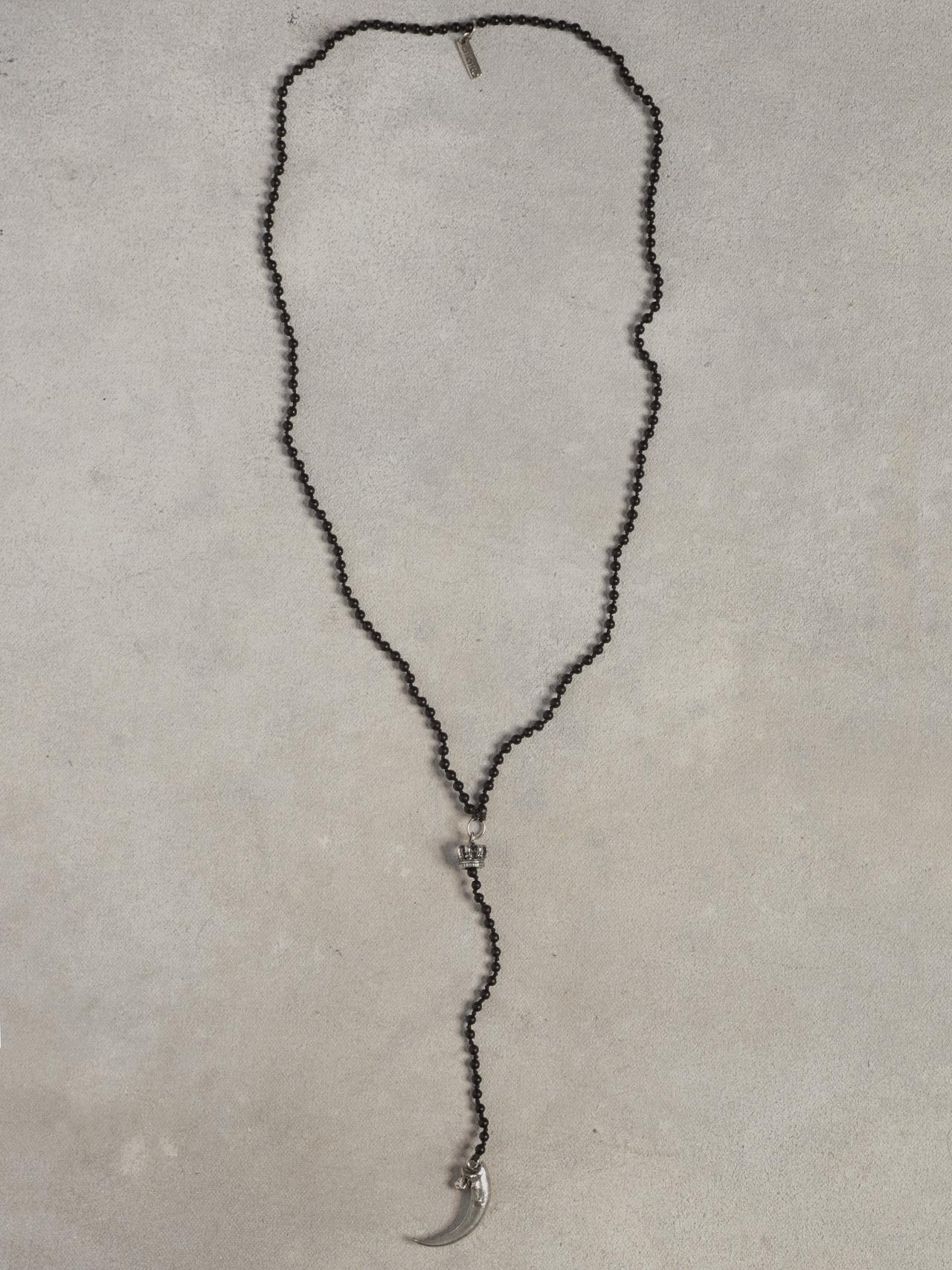 Onyx Hook Beaded Necklace