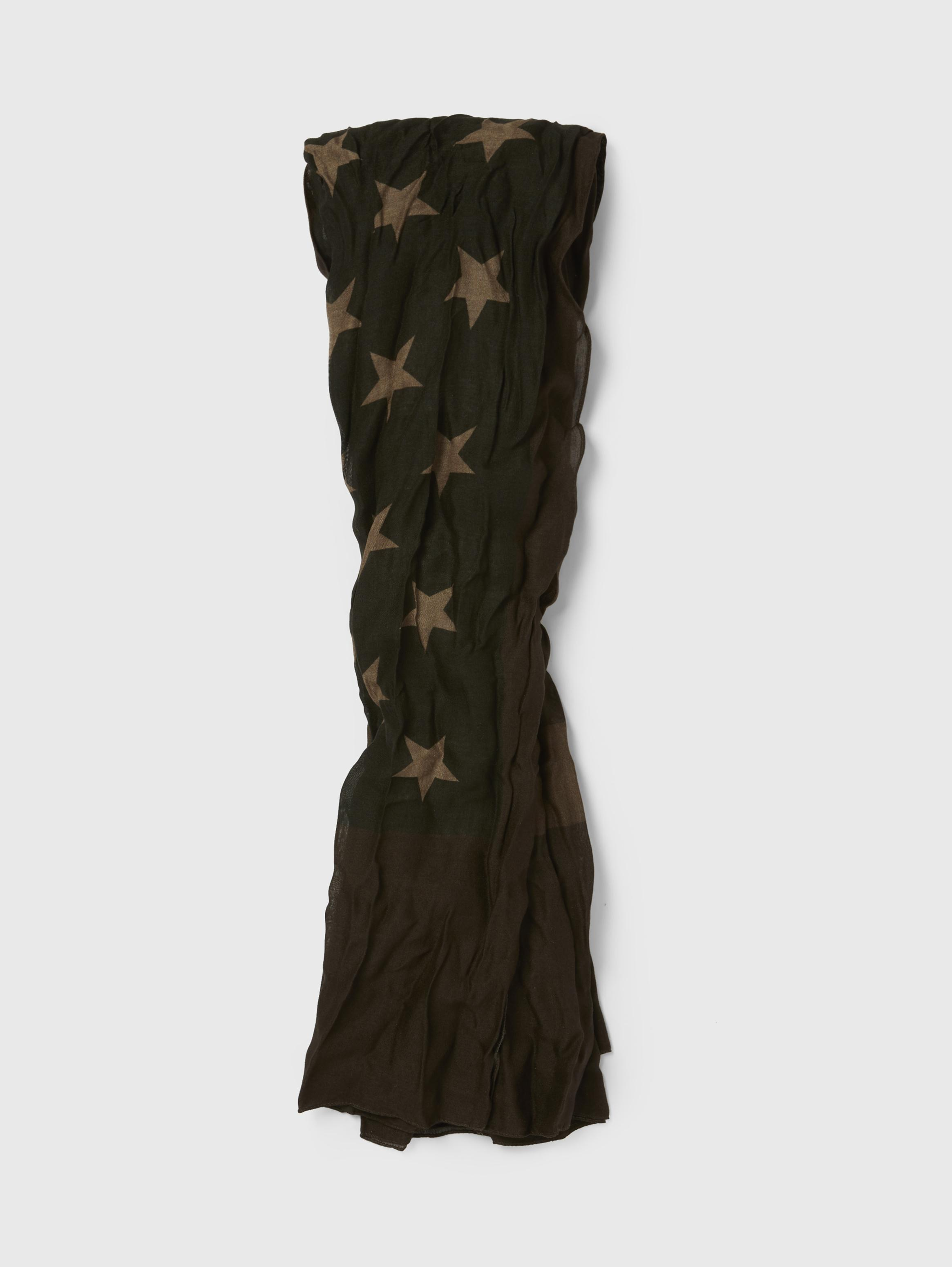 Antique Printed Flag Scarf