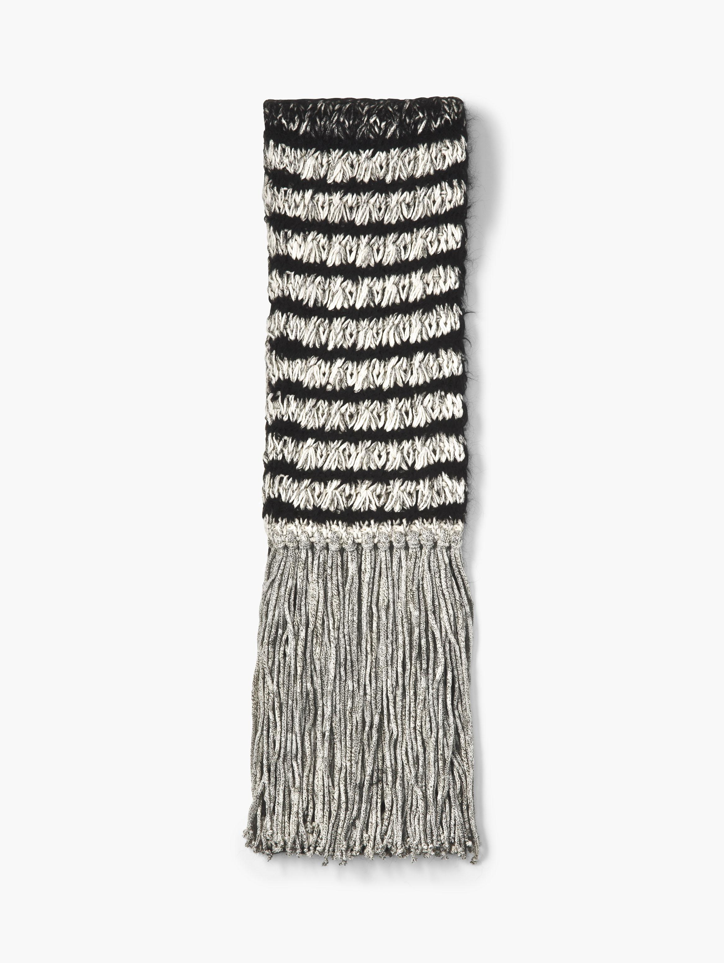 Alpaca and Pima Cotton Knit Scarf