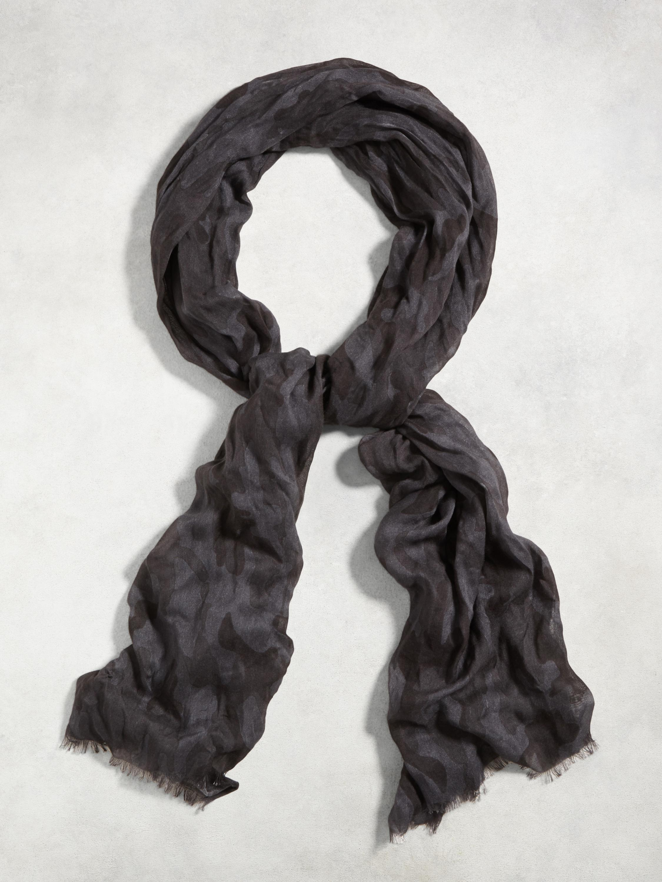 Crinkled Camo Scarf