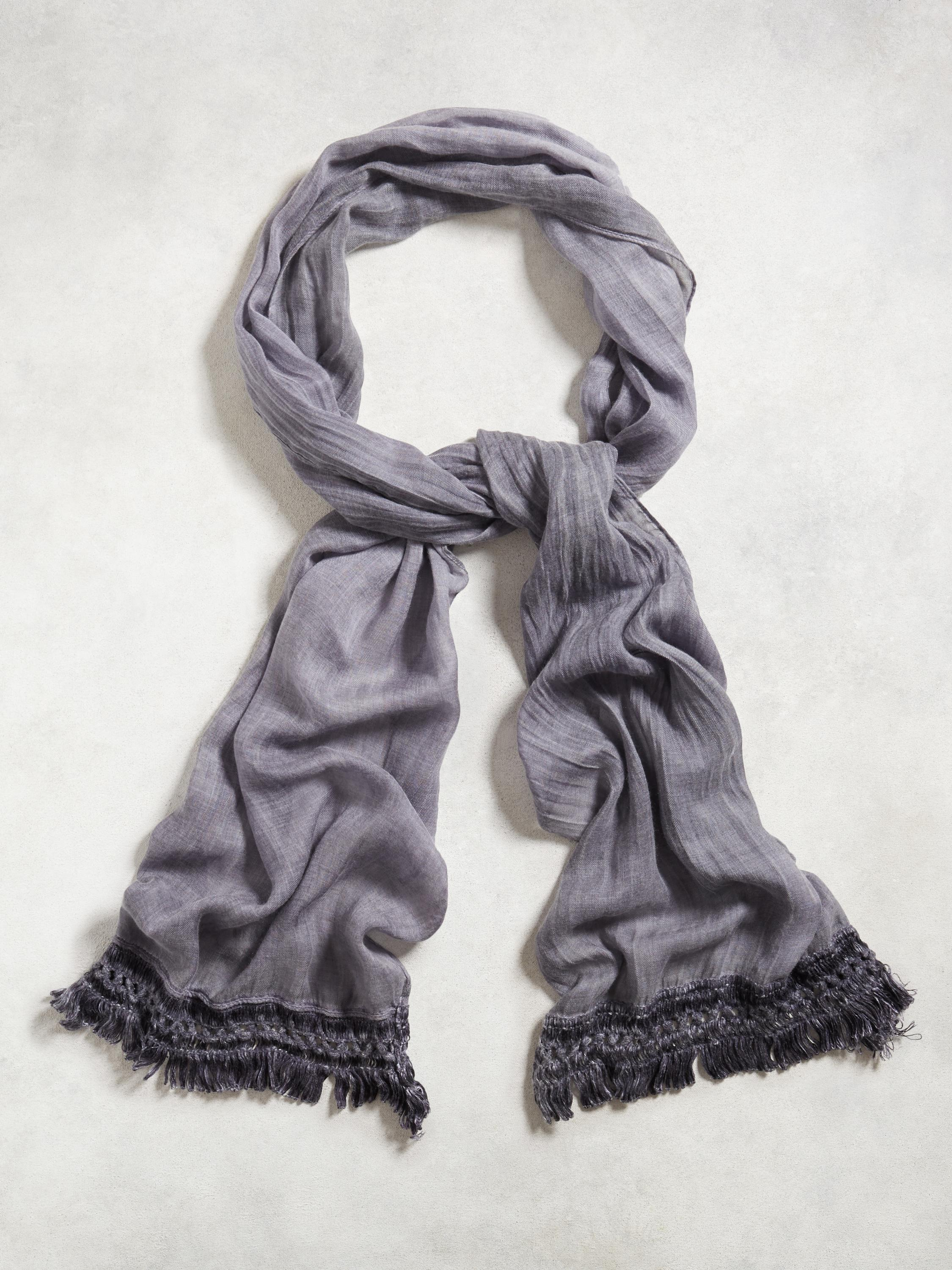 Cotton Linen Fringe Scarf