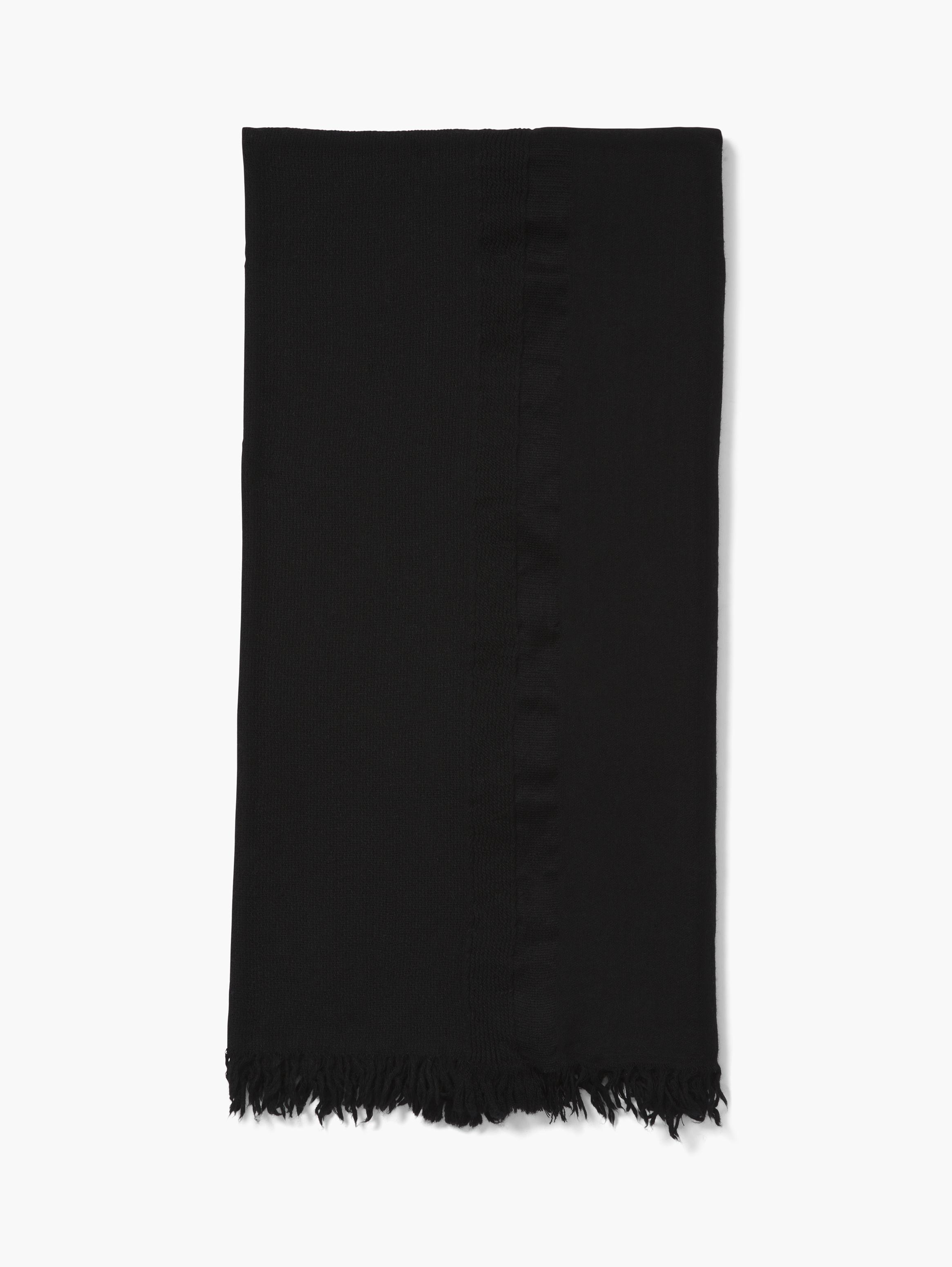 Solid Fringed Scarf