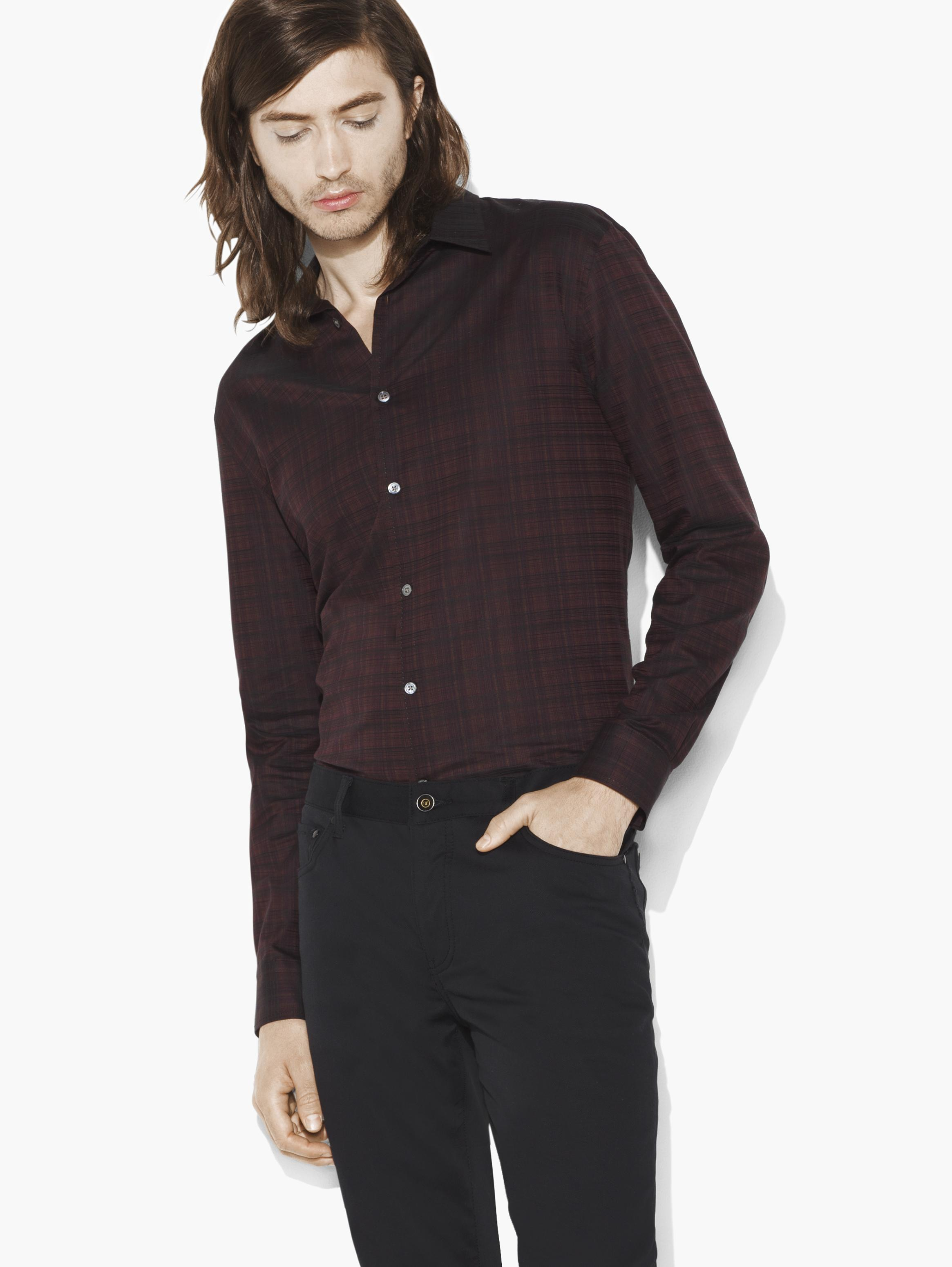 Jacquard Plaid Shirt
