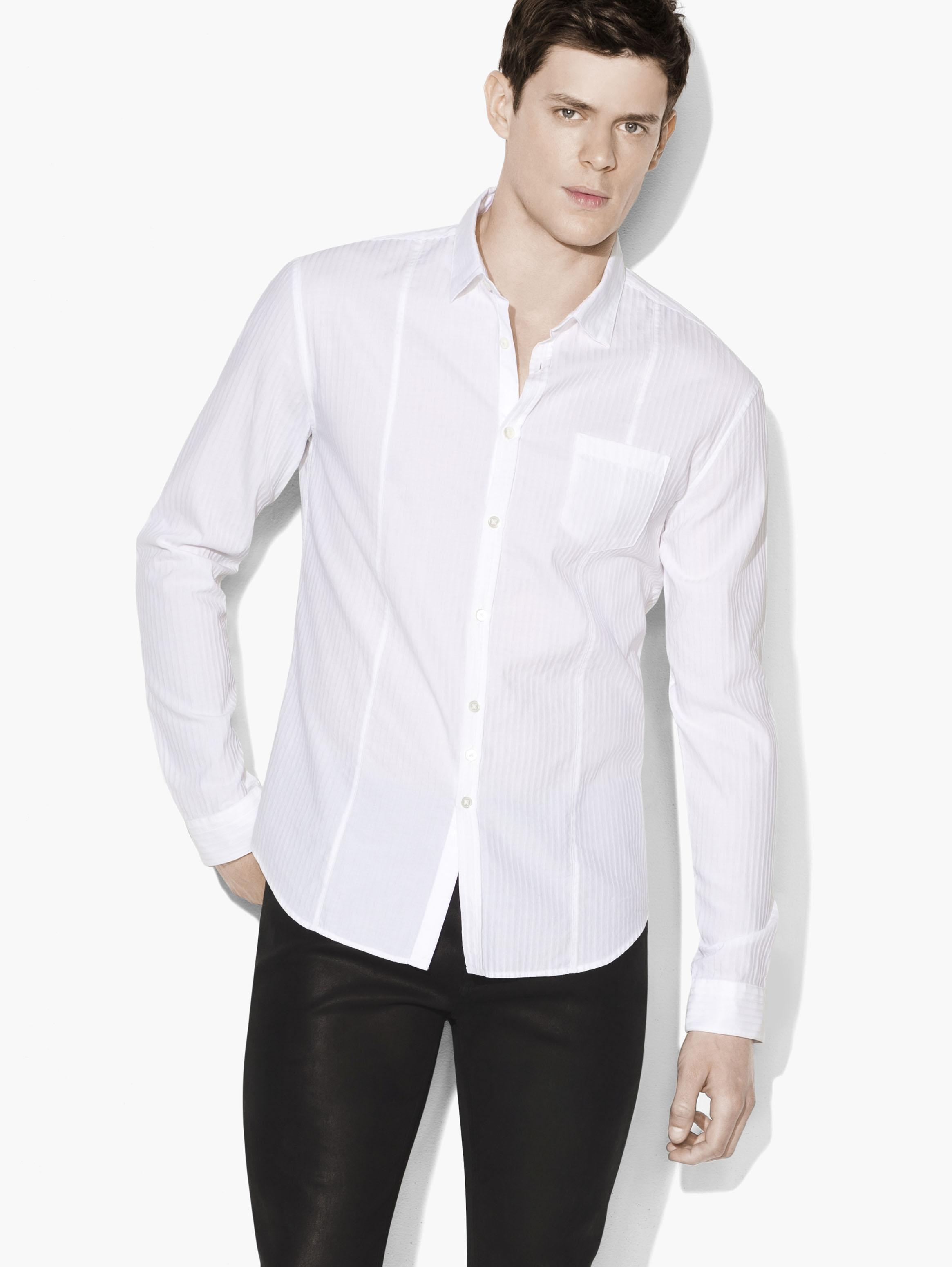 Tonal Trimmed Shirt