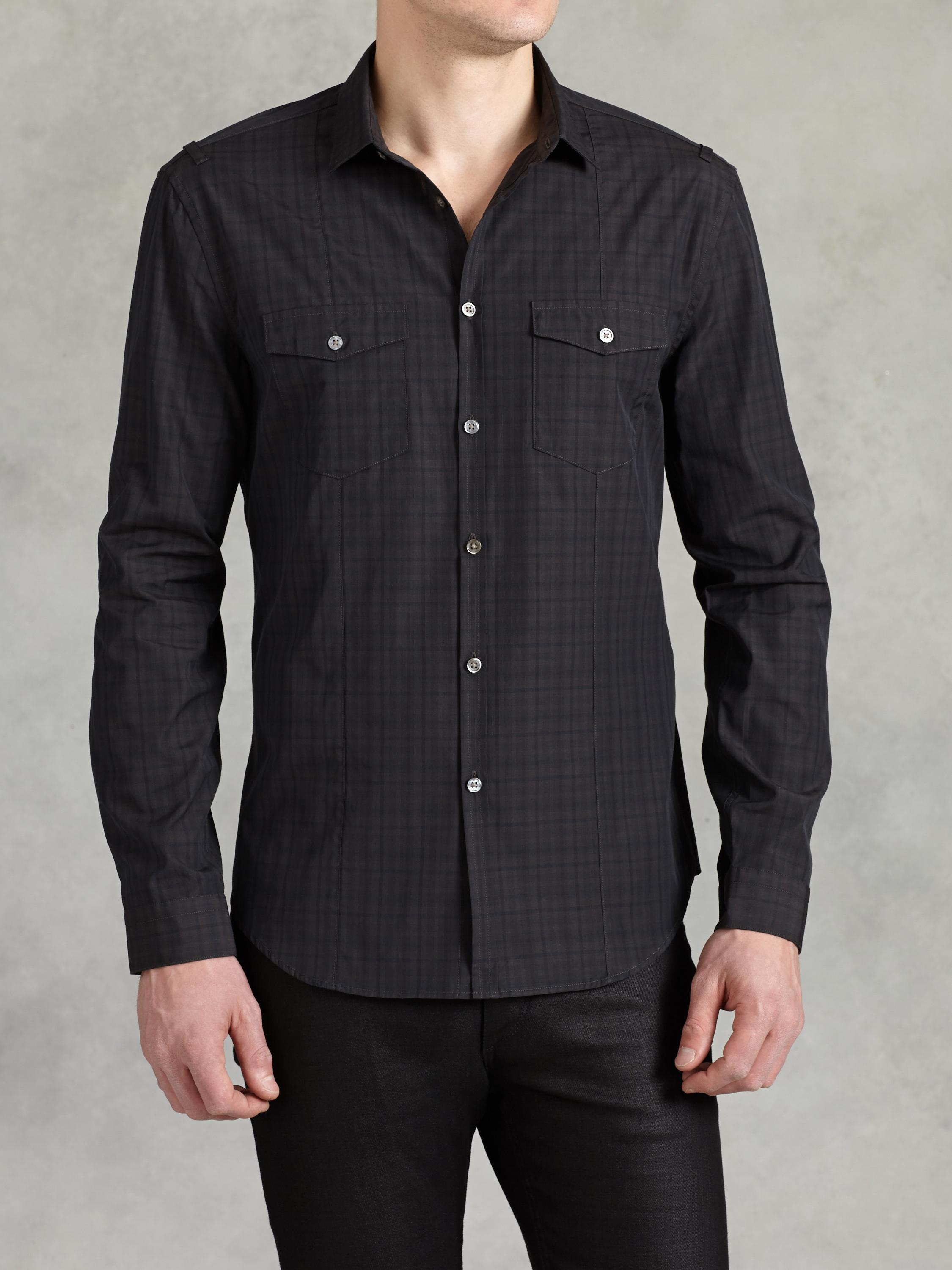 Cotton Vintage Plaid Shirt
