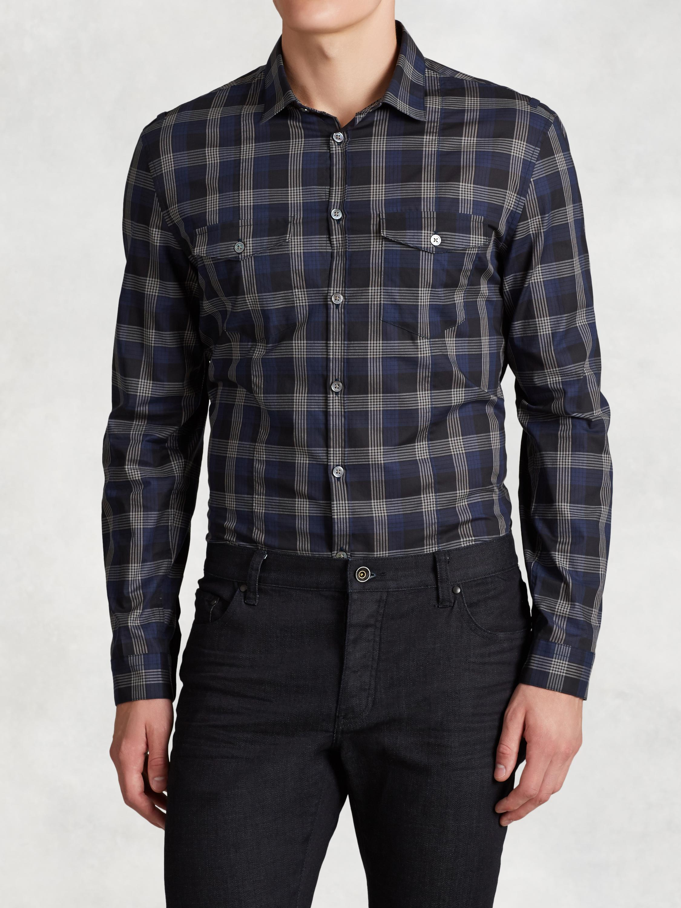 Military Inspired Slim Fit Shirt