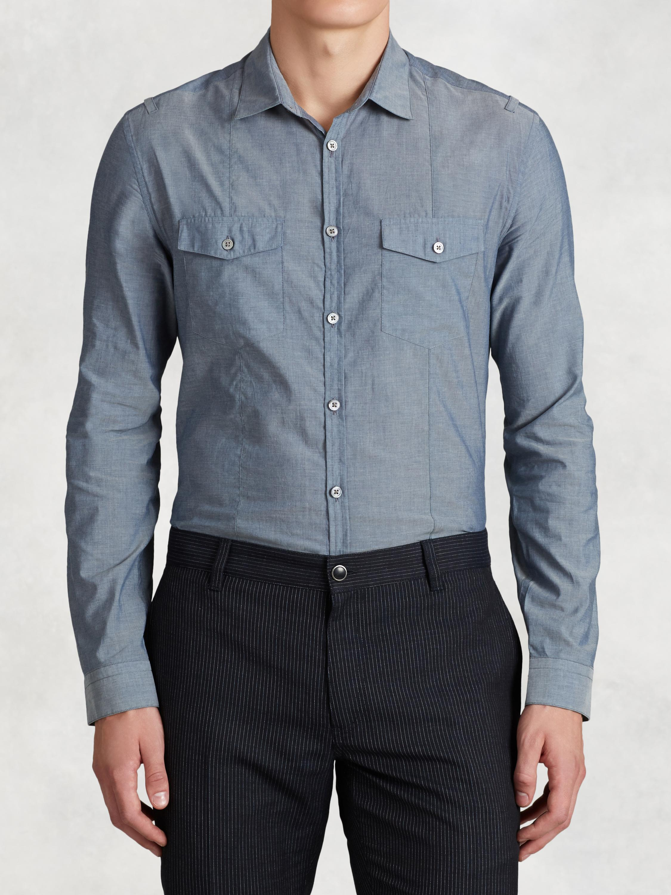 Cotton Denim Style Shirt