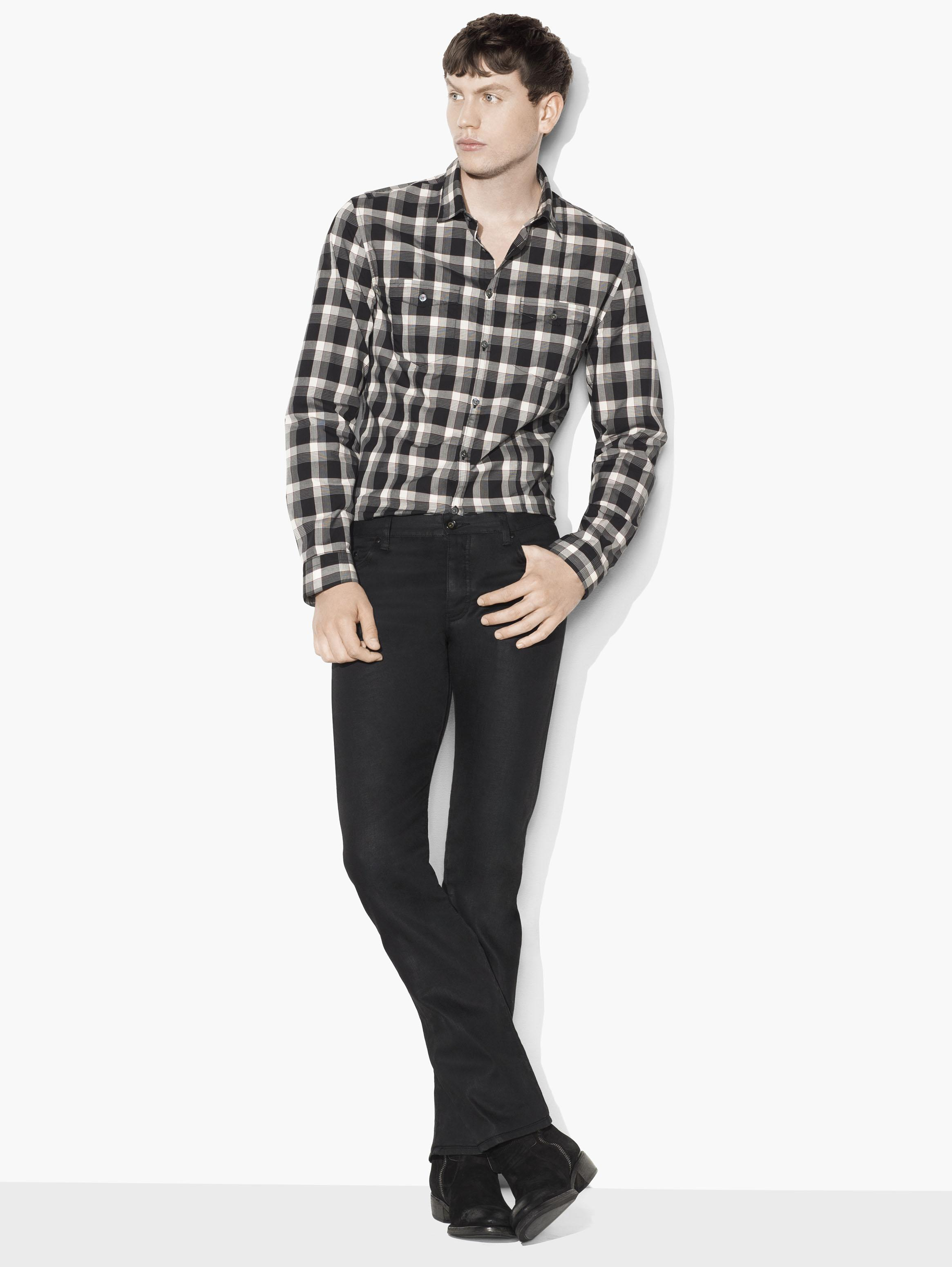 Plaid Military Shirt