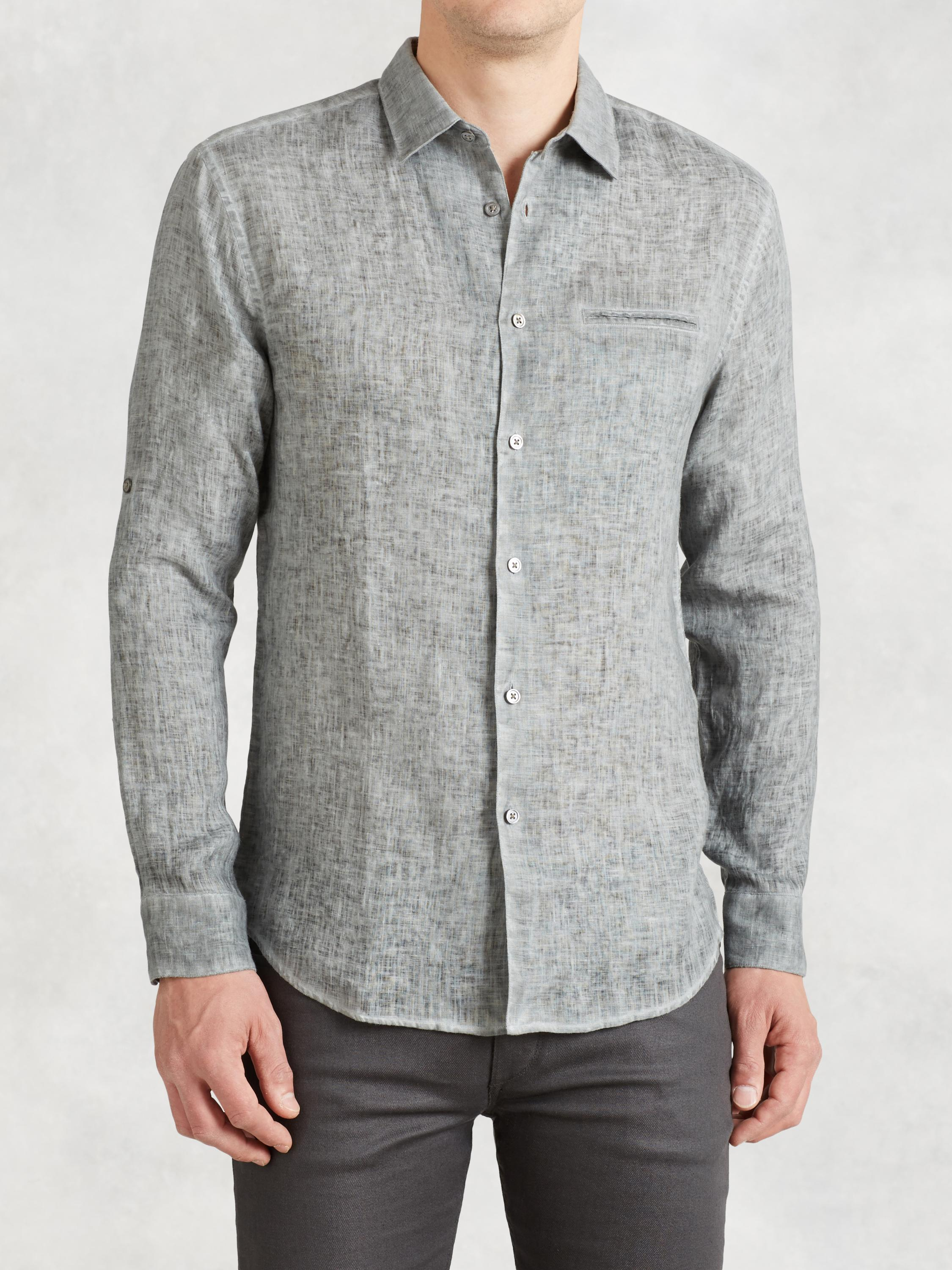 Artisan Linen Rolled Sleeve Shirt