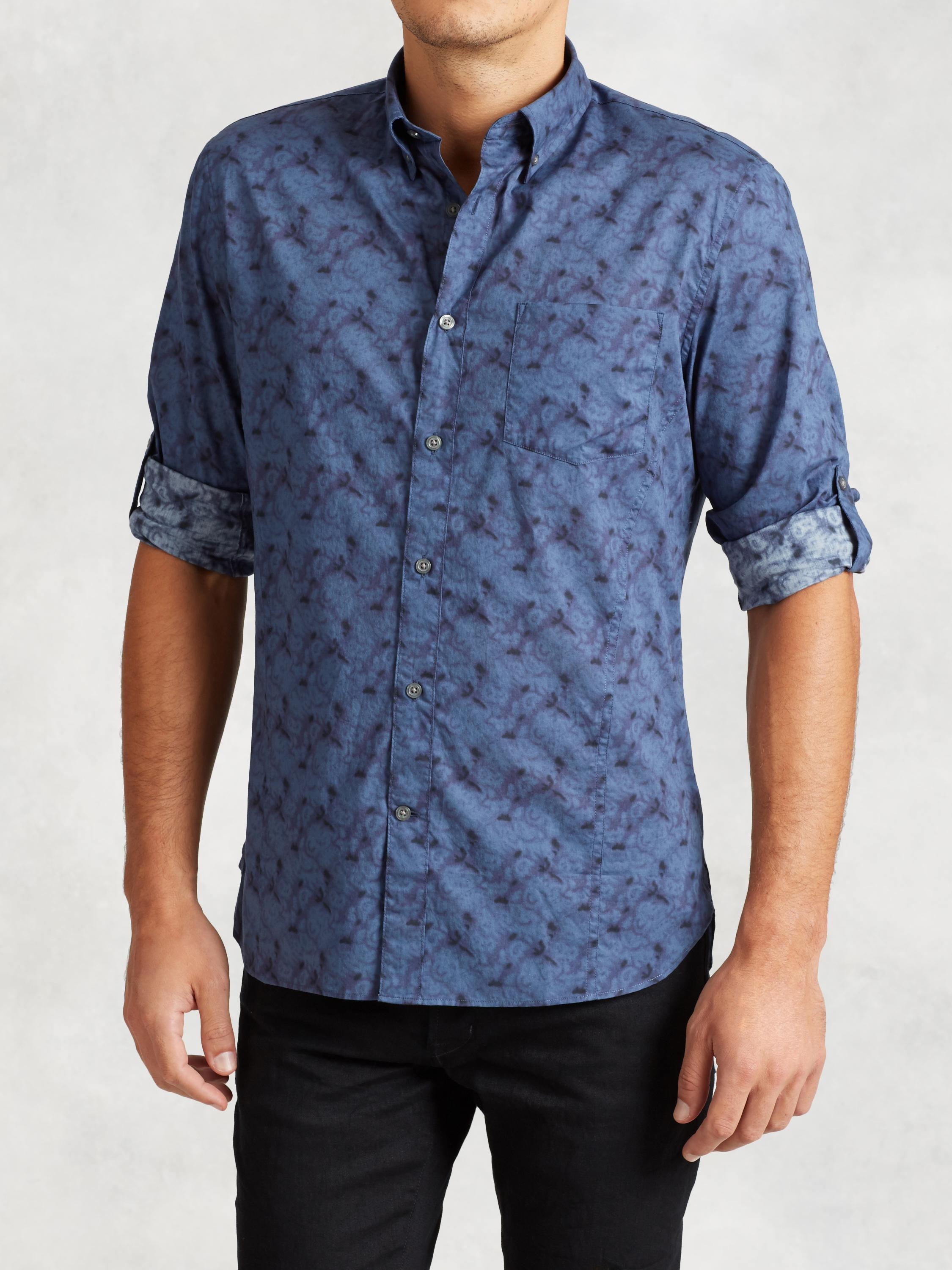 Cotton Shirt with Garment Wash