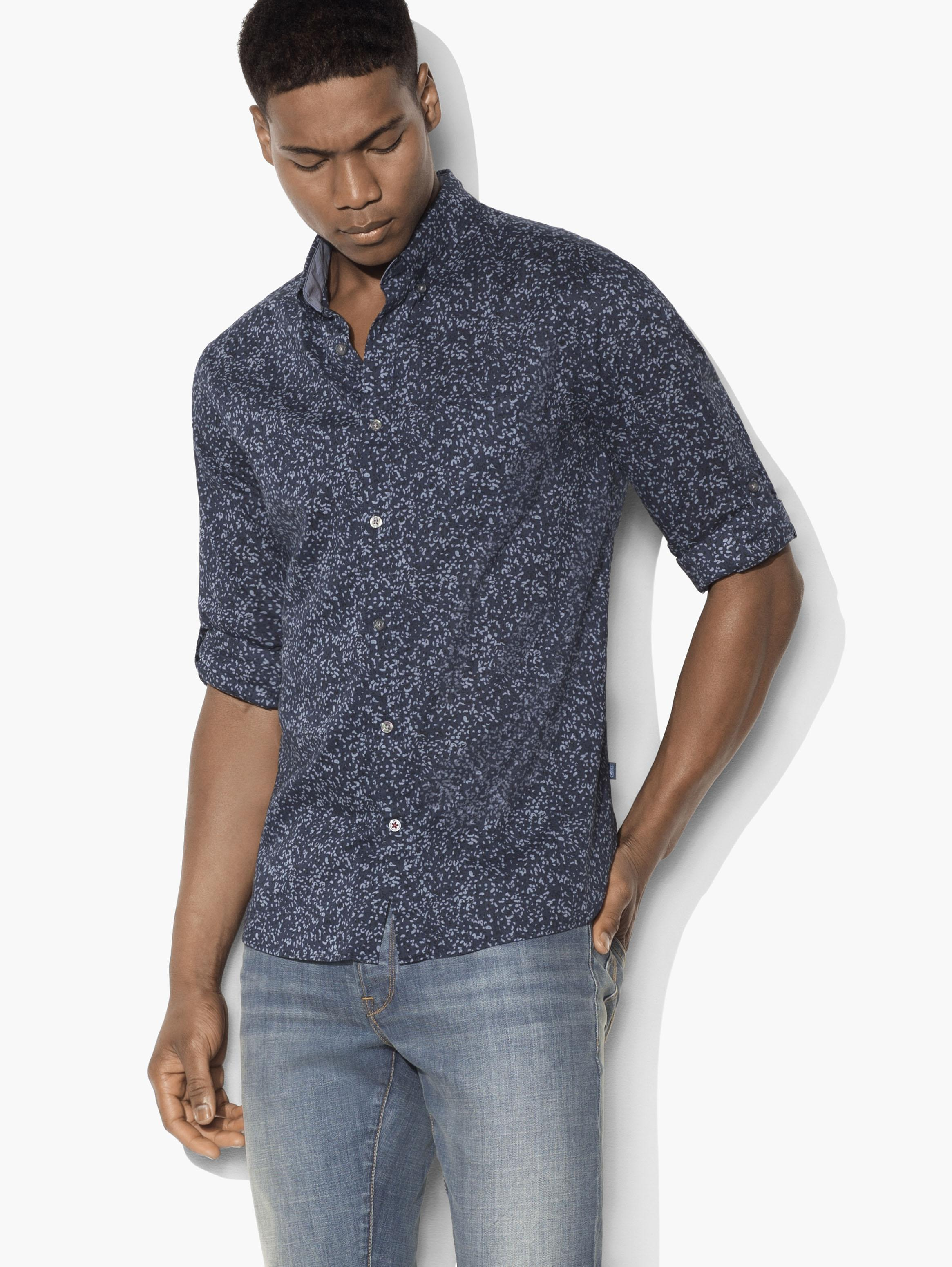 Abstract Button-Down Shirt