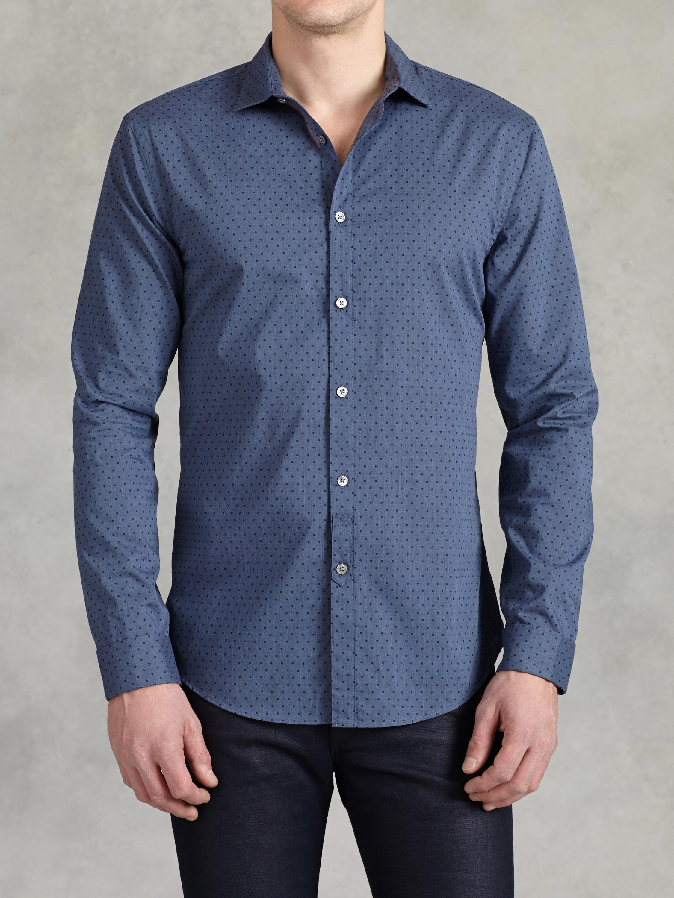 Cotton Dot Shirt