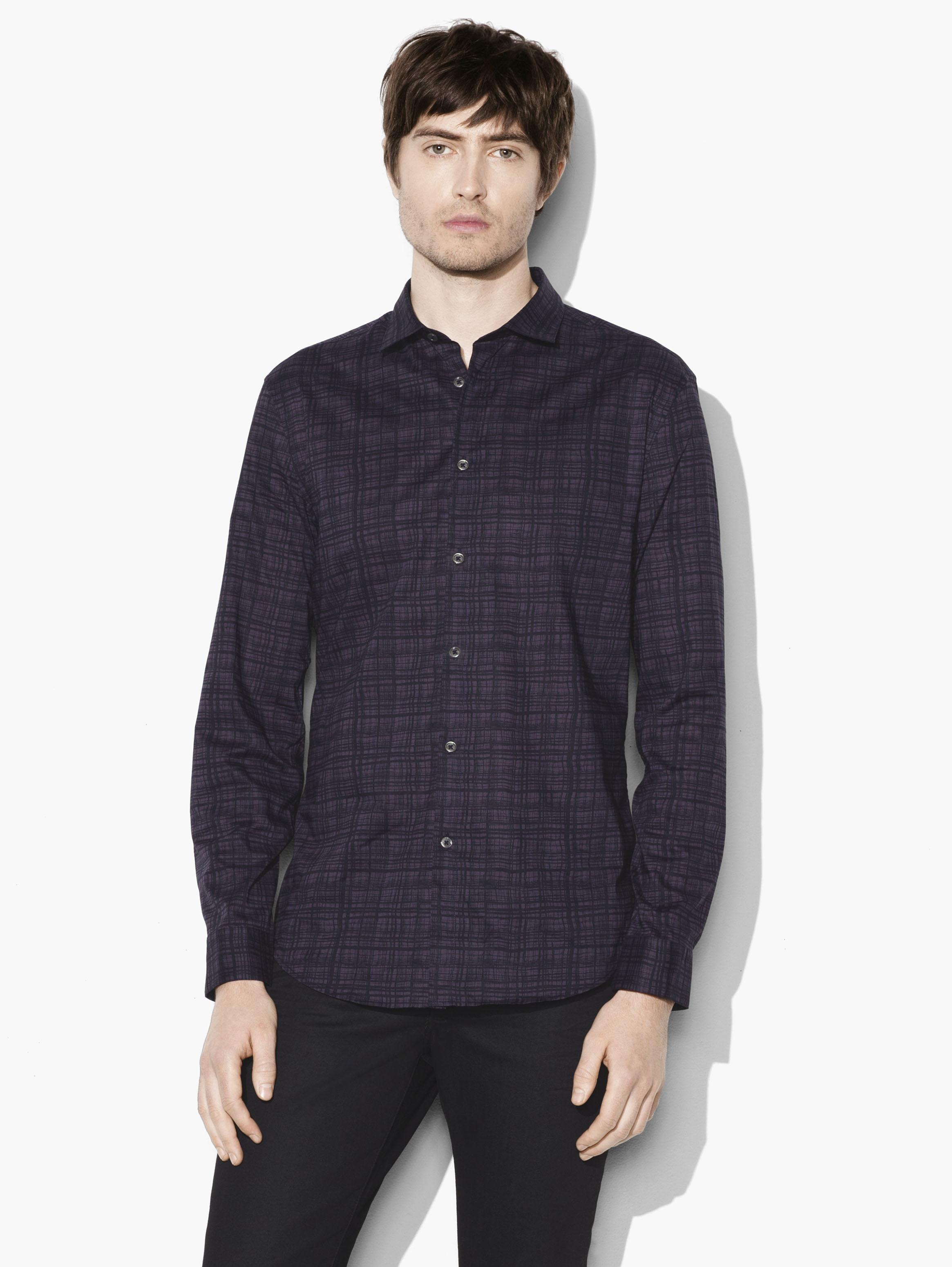 SLIM FIT SPORT SHIRT WITH SHANK BUTTONS, AND BACK