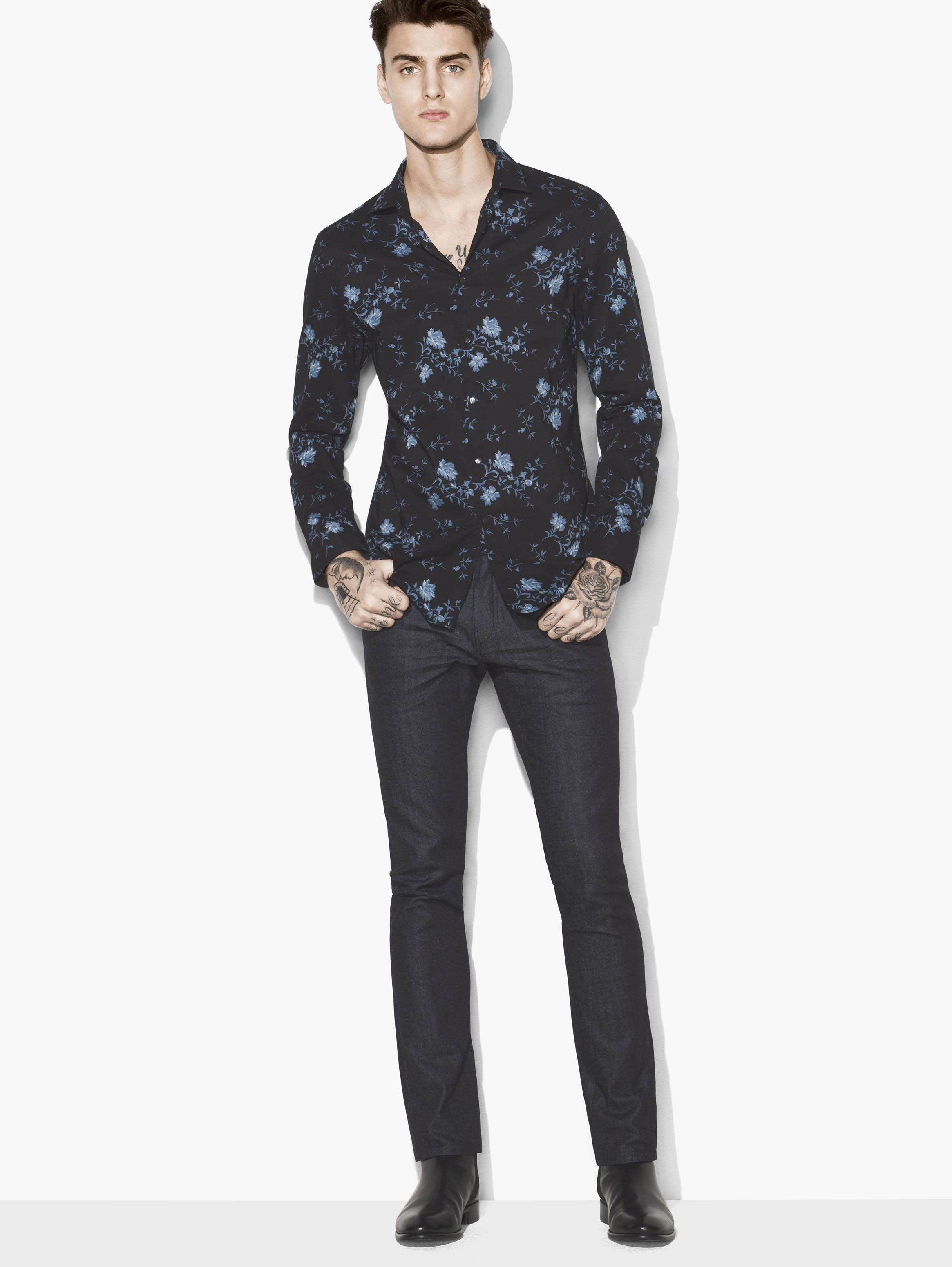 Allover Floral Shirt by John Varvatos