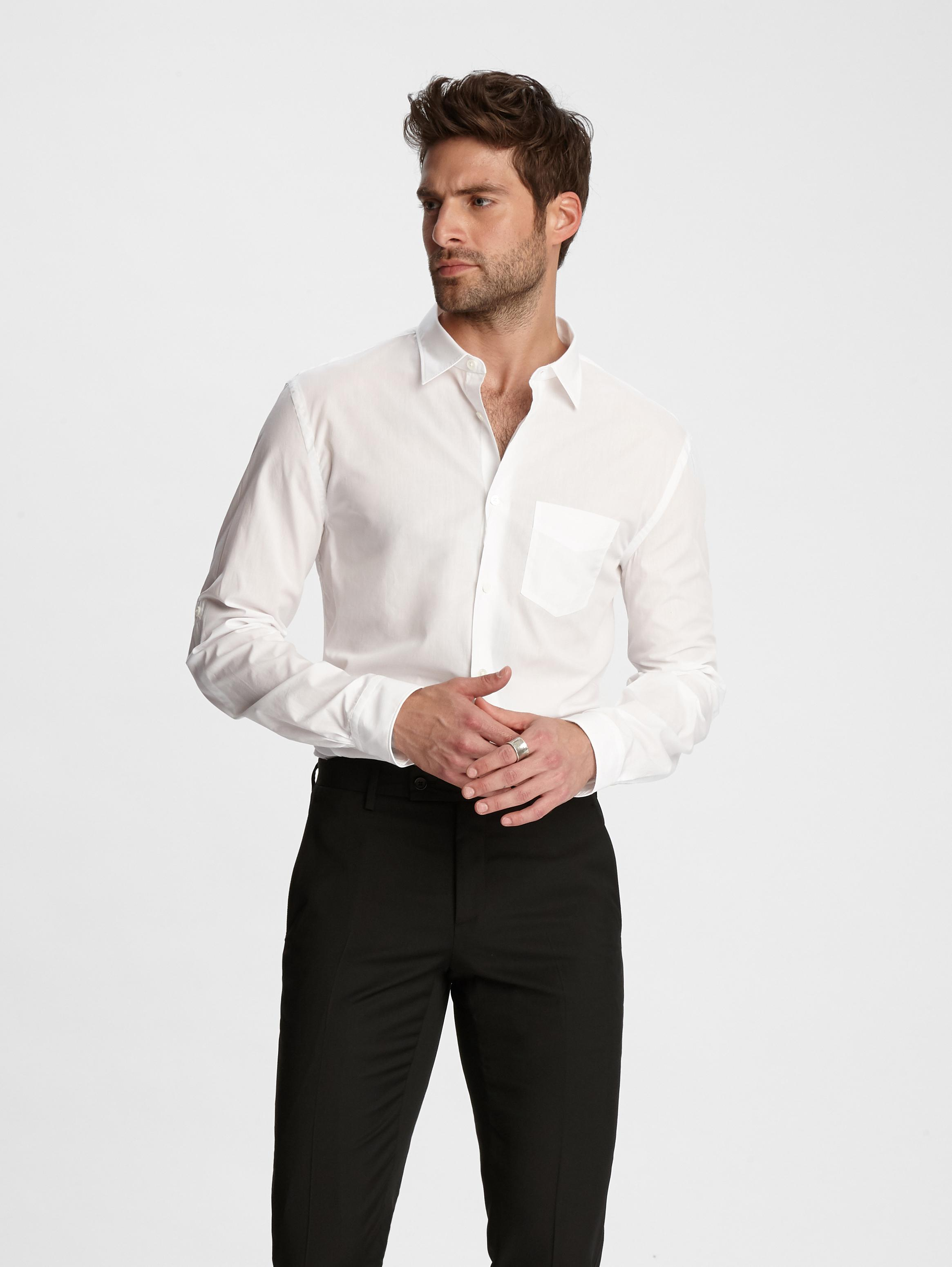 Cotton Rolled Sleeve Shirt