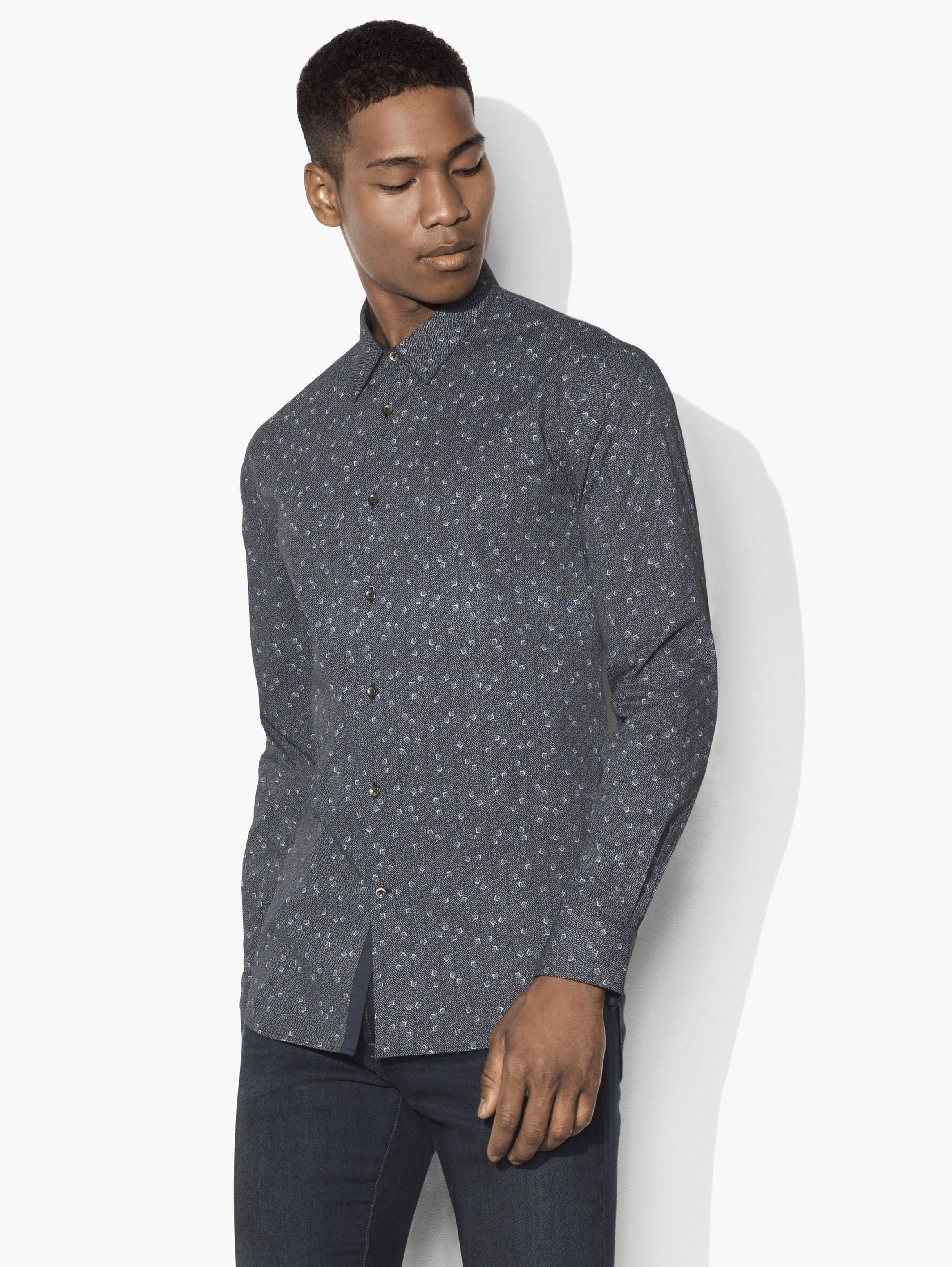Mayfield Geometric Dice Shirt