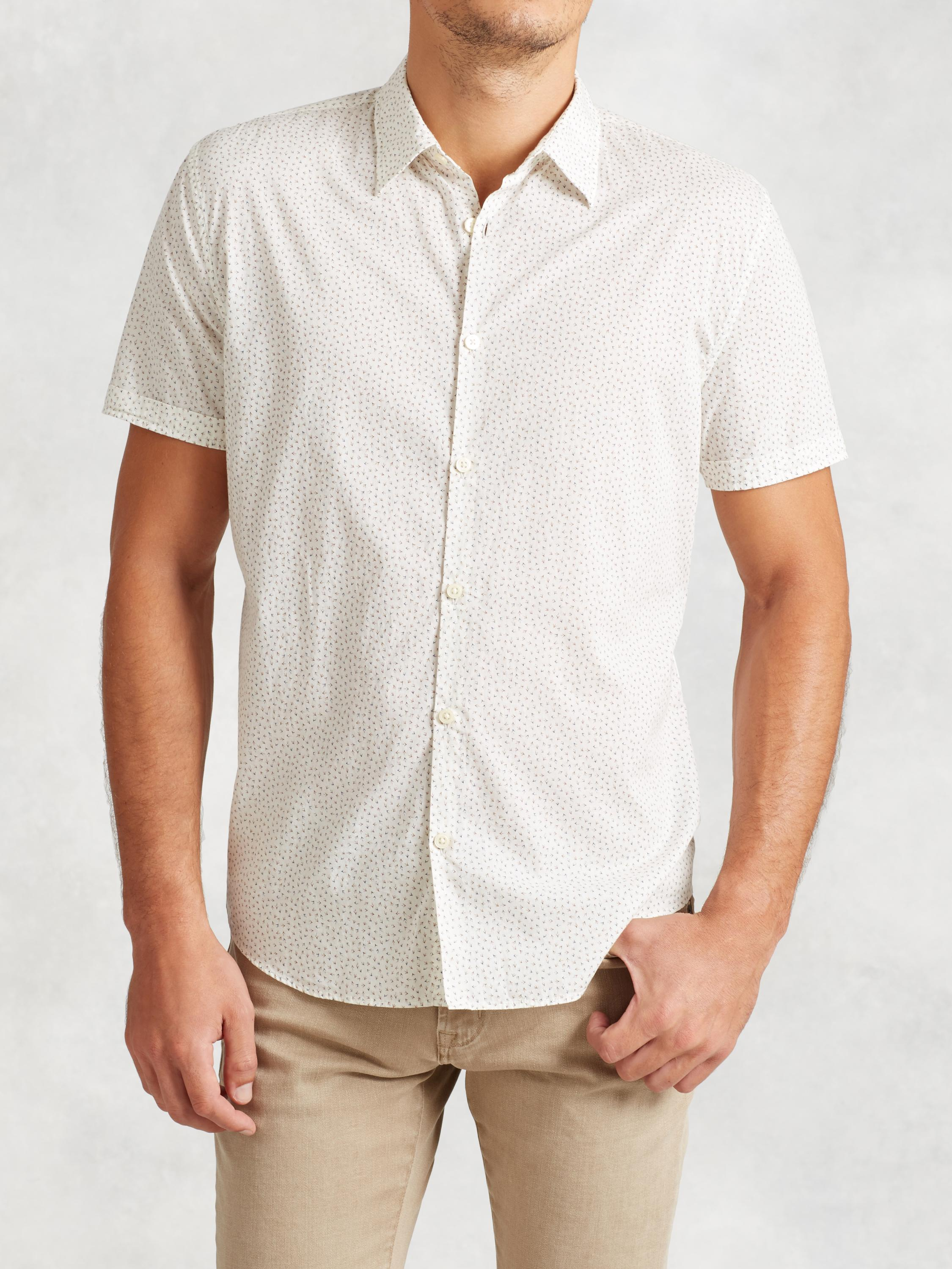 Printed Cotton Short Sleeve Shirt
