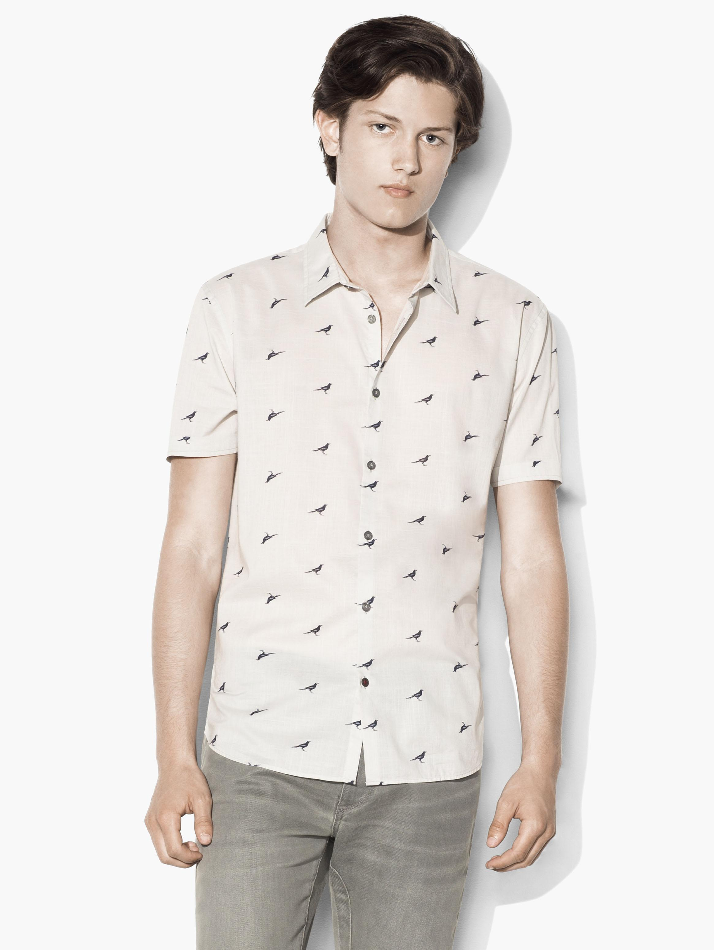 Short Sleeve Crow Shirt