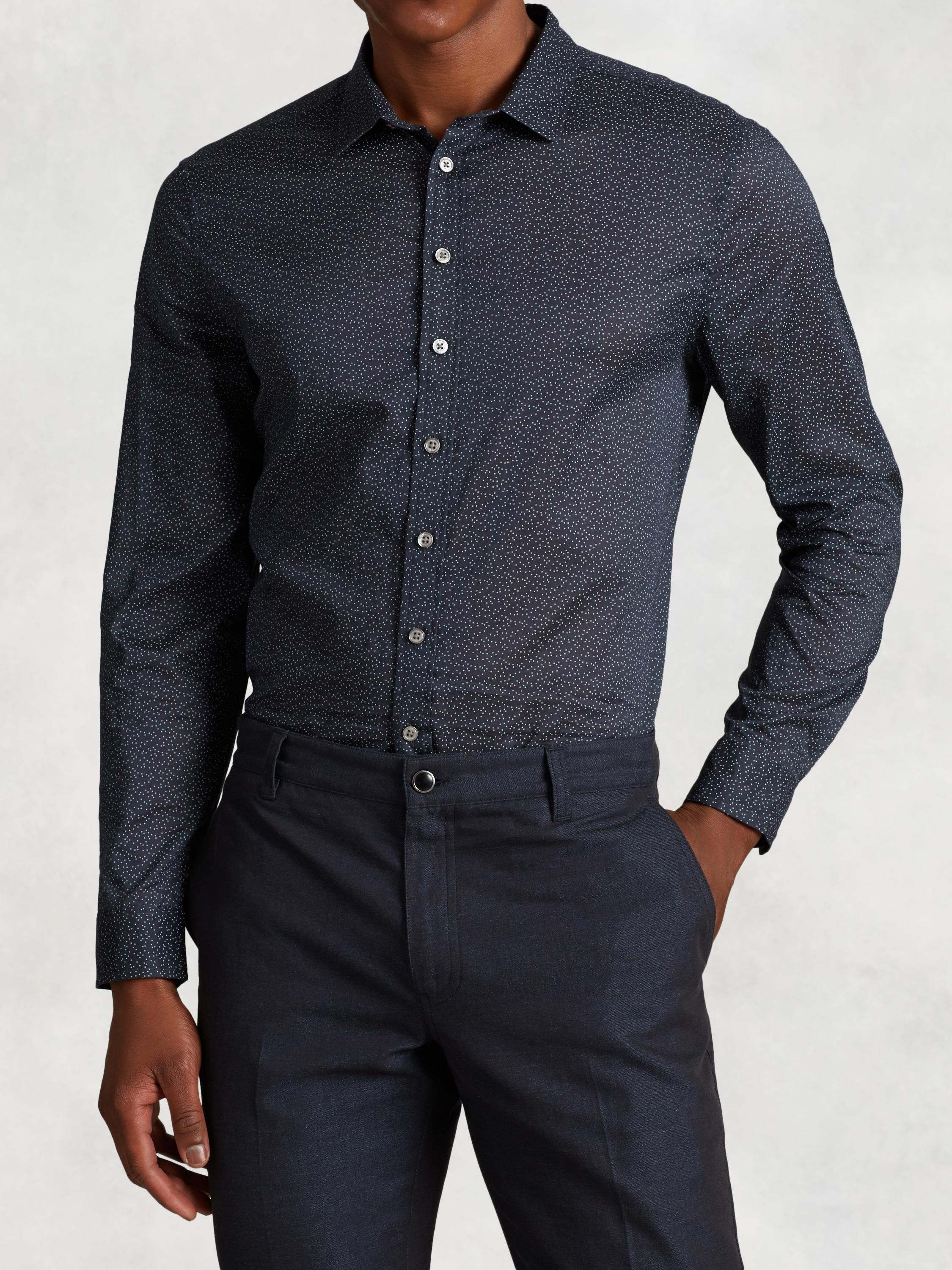 Cotton Round Hem Shirt