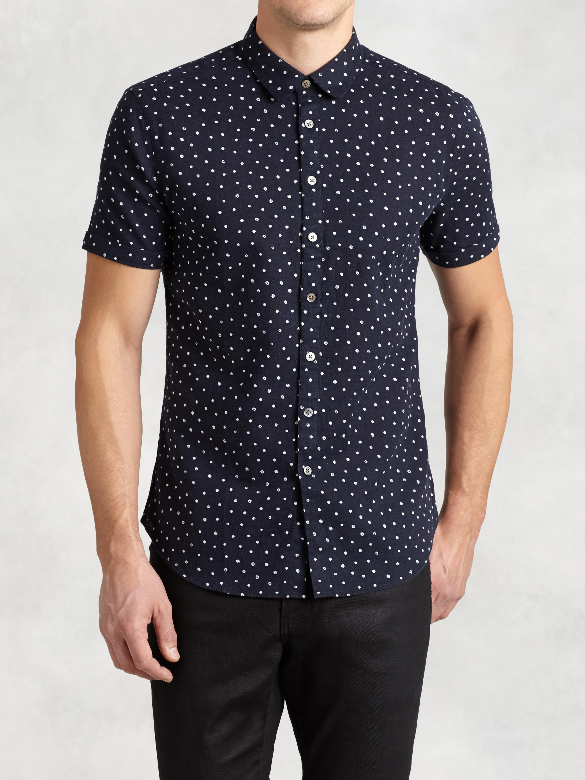 Abstract Polka Dot Short Sleeve Shirt