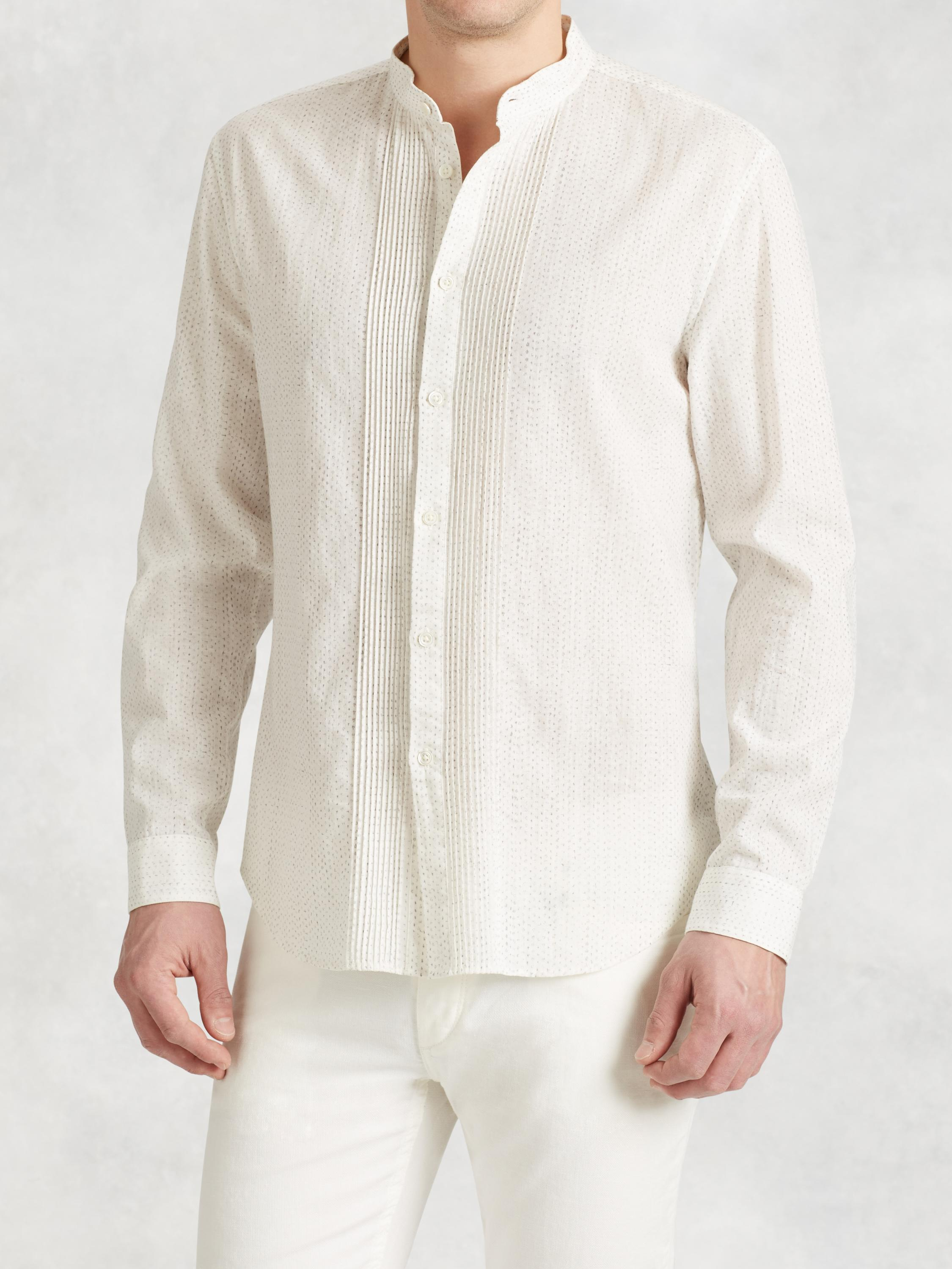 Linen Cotton Pin Tuck Shirt