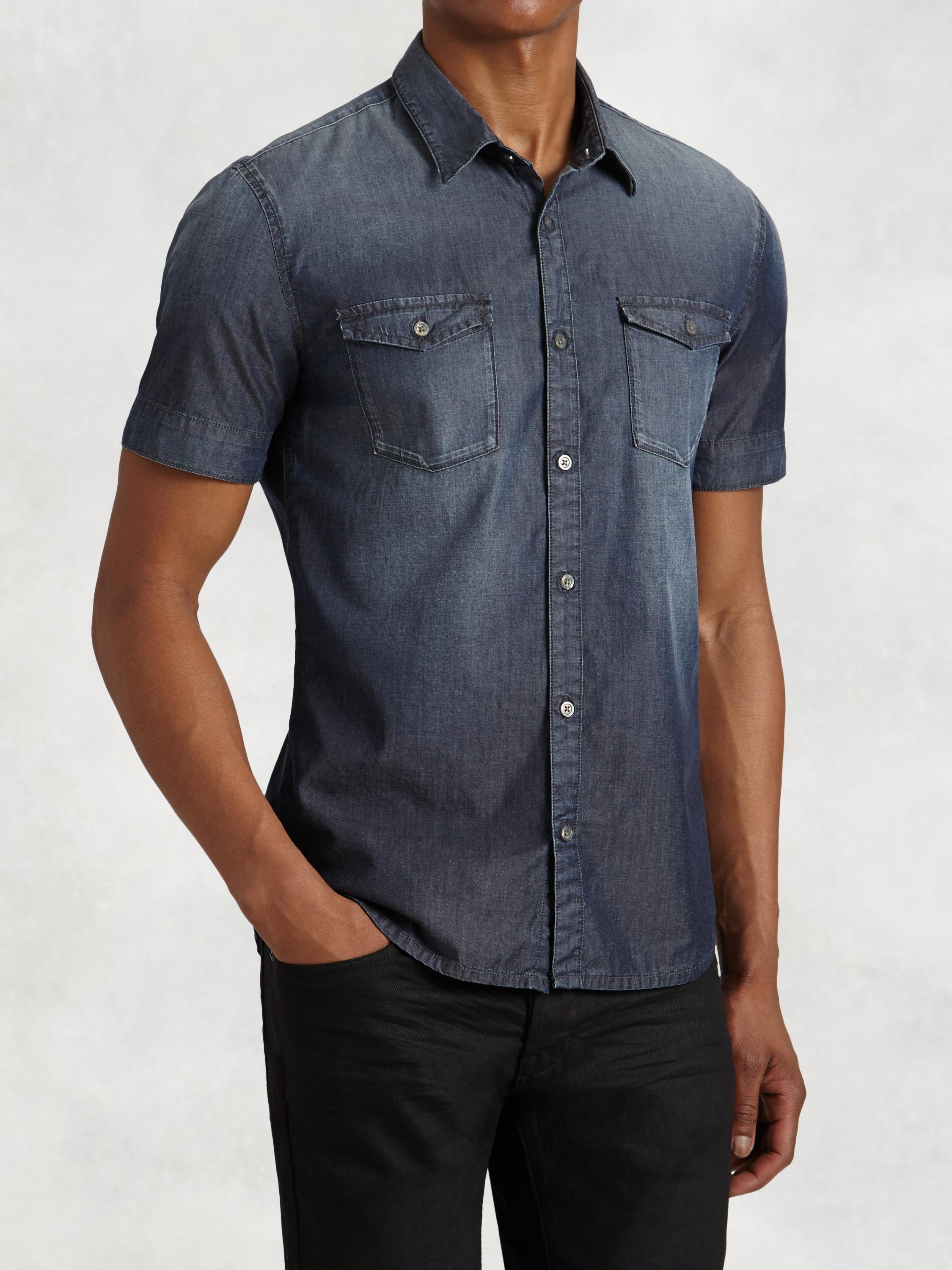 Short Sleeve Indigo Shirt