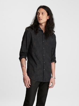 Abstract Jacquard Shirt