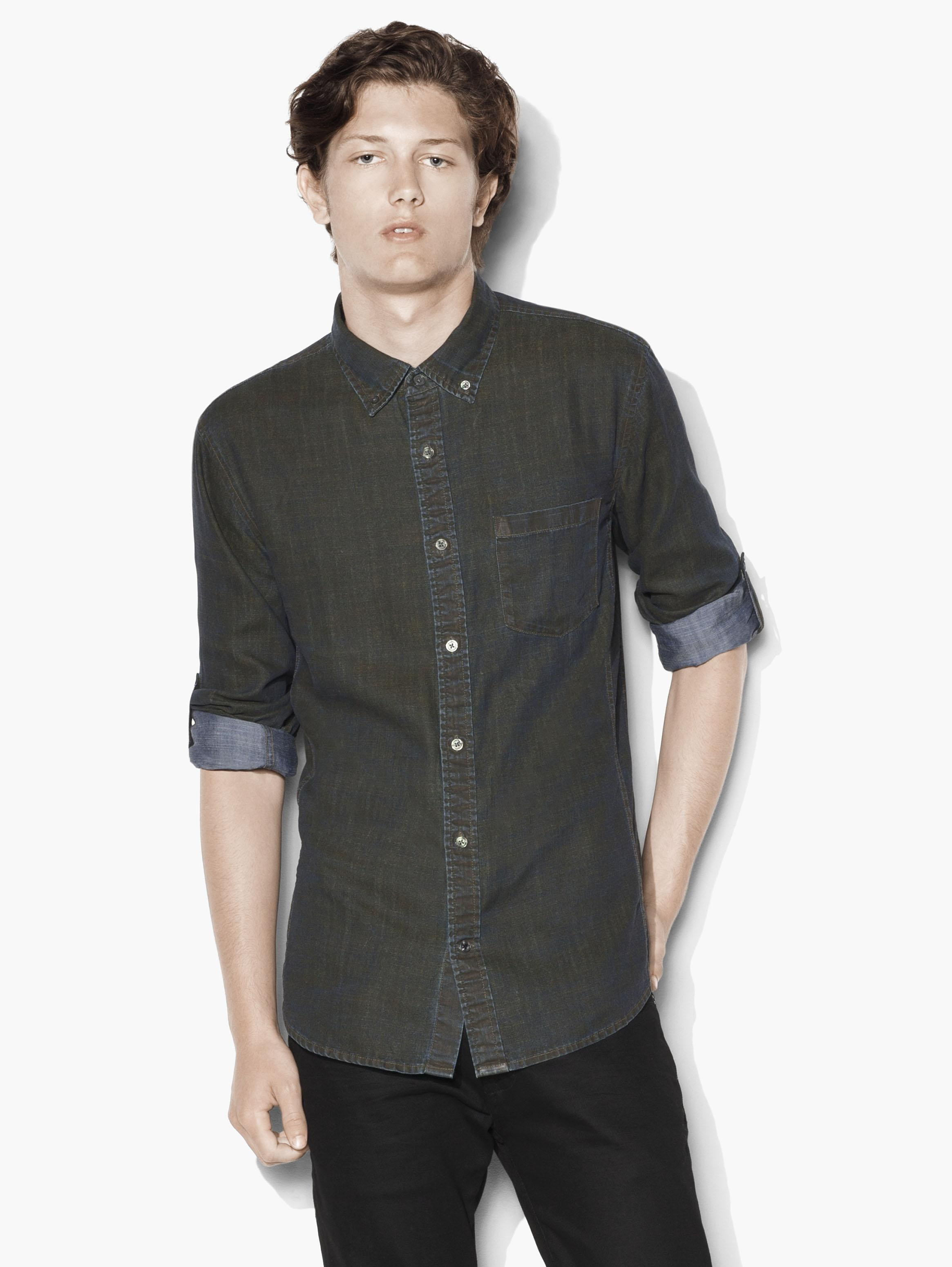 Adjustable Sleeve Button-Down Shirt